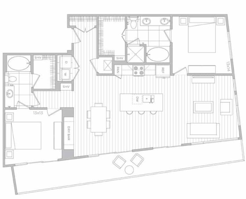 Peachtree Square Apartments Floor Plans: Midtown's Hanover West Peachtree Reveals Floorplans
