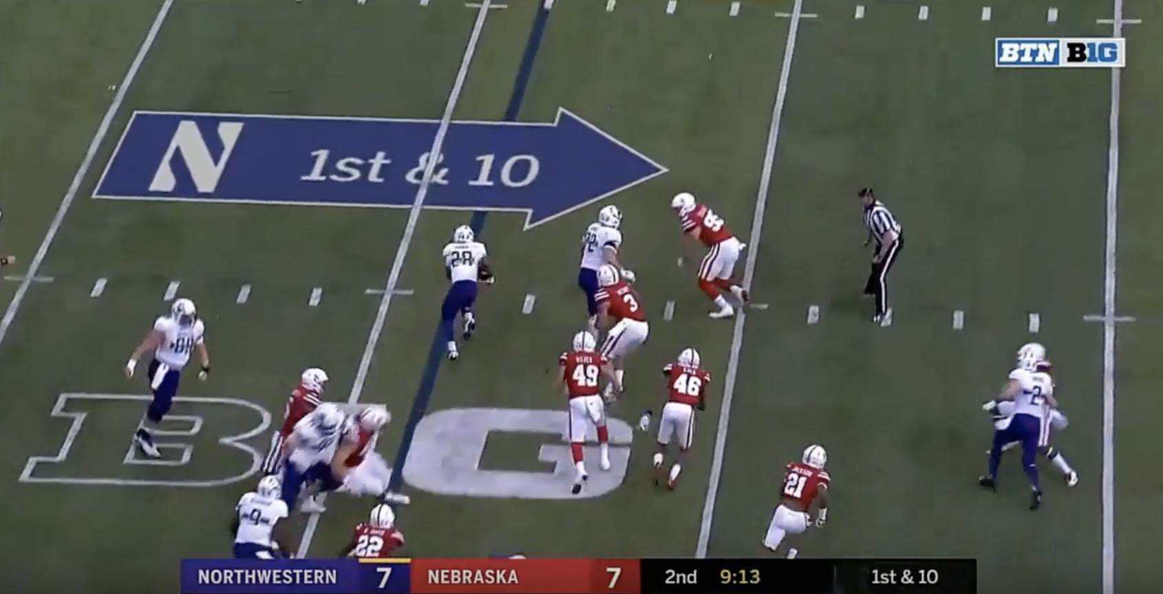 Larkin simply cuts it outside of Hance and Newby has no shot at keeping contain. Still Ben Stille (95) is in a decent position and has an angle on Larkin ... & Inside the Play: Nobody can catch Northwestern RB Jeremy Larkin ... Aboutintivar.Com