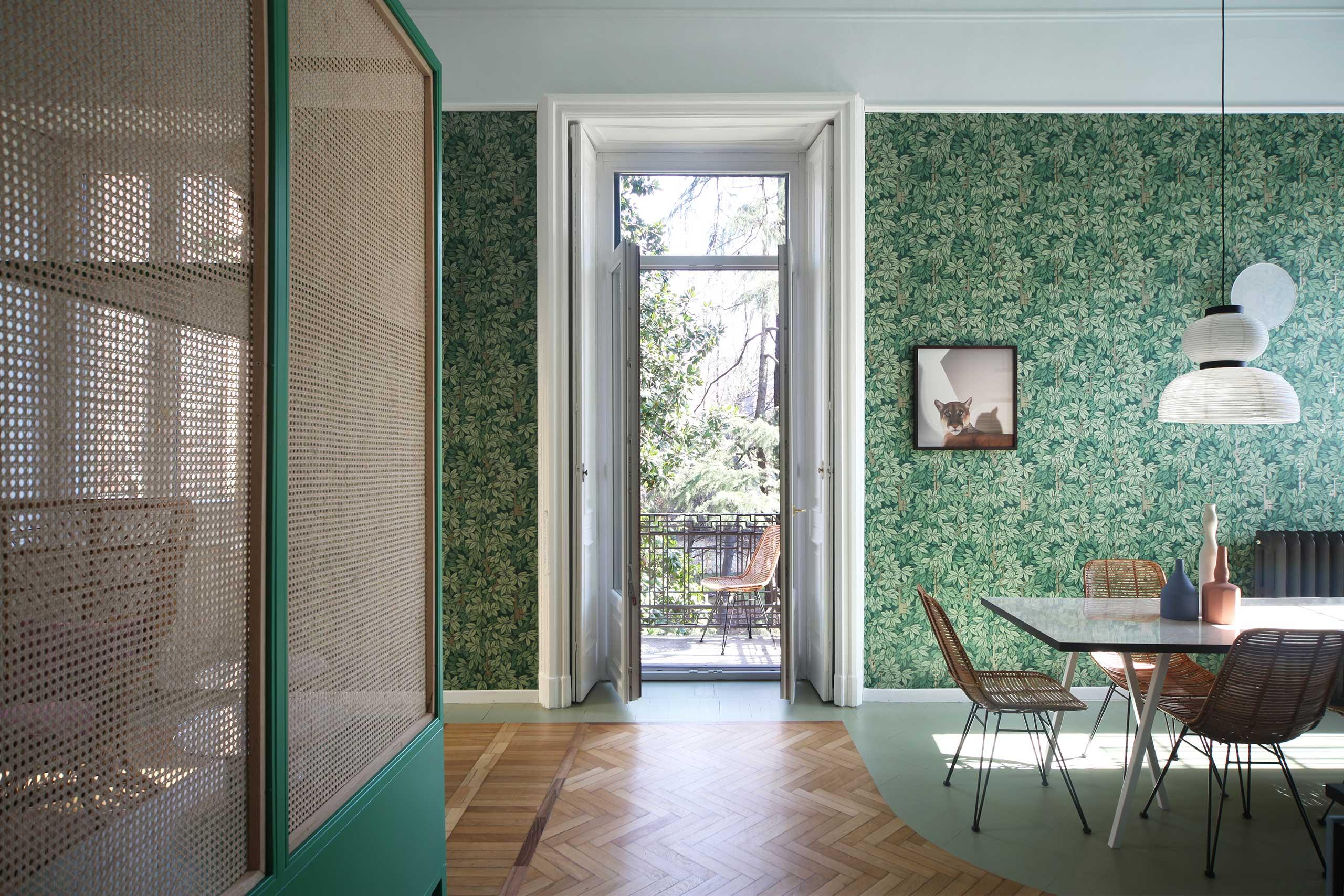 Ravishing colors bring this Milan apartment renovation to life