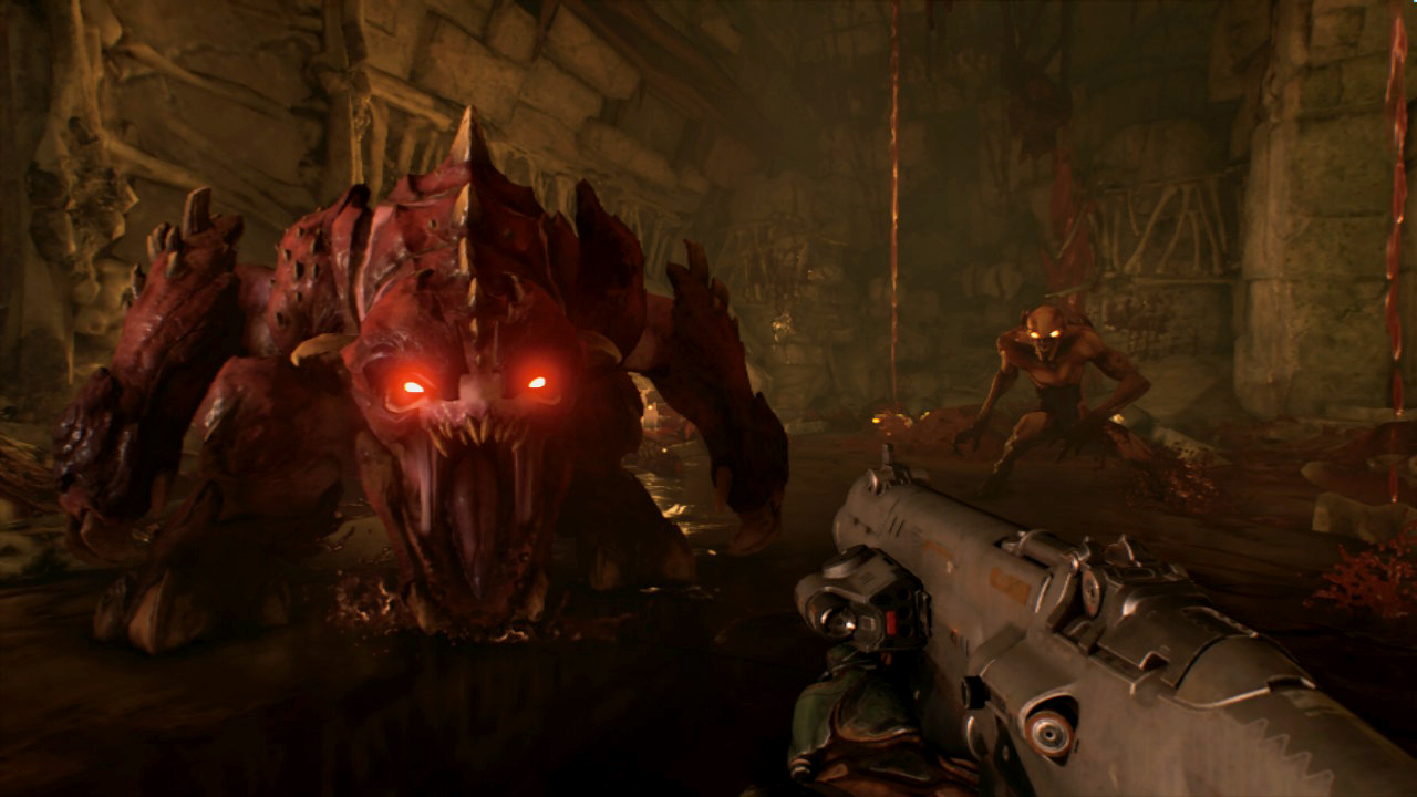 Doom for Nintendo Switch works better in handheld than docked mode