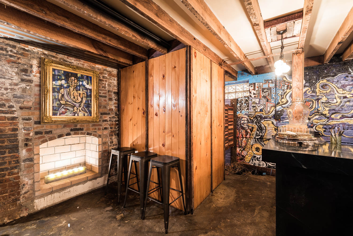 a cozy unnamed wood cabin bar springs up in shaw eater dc