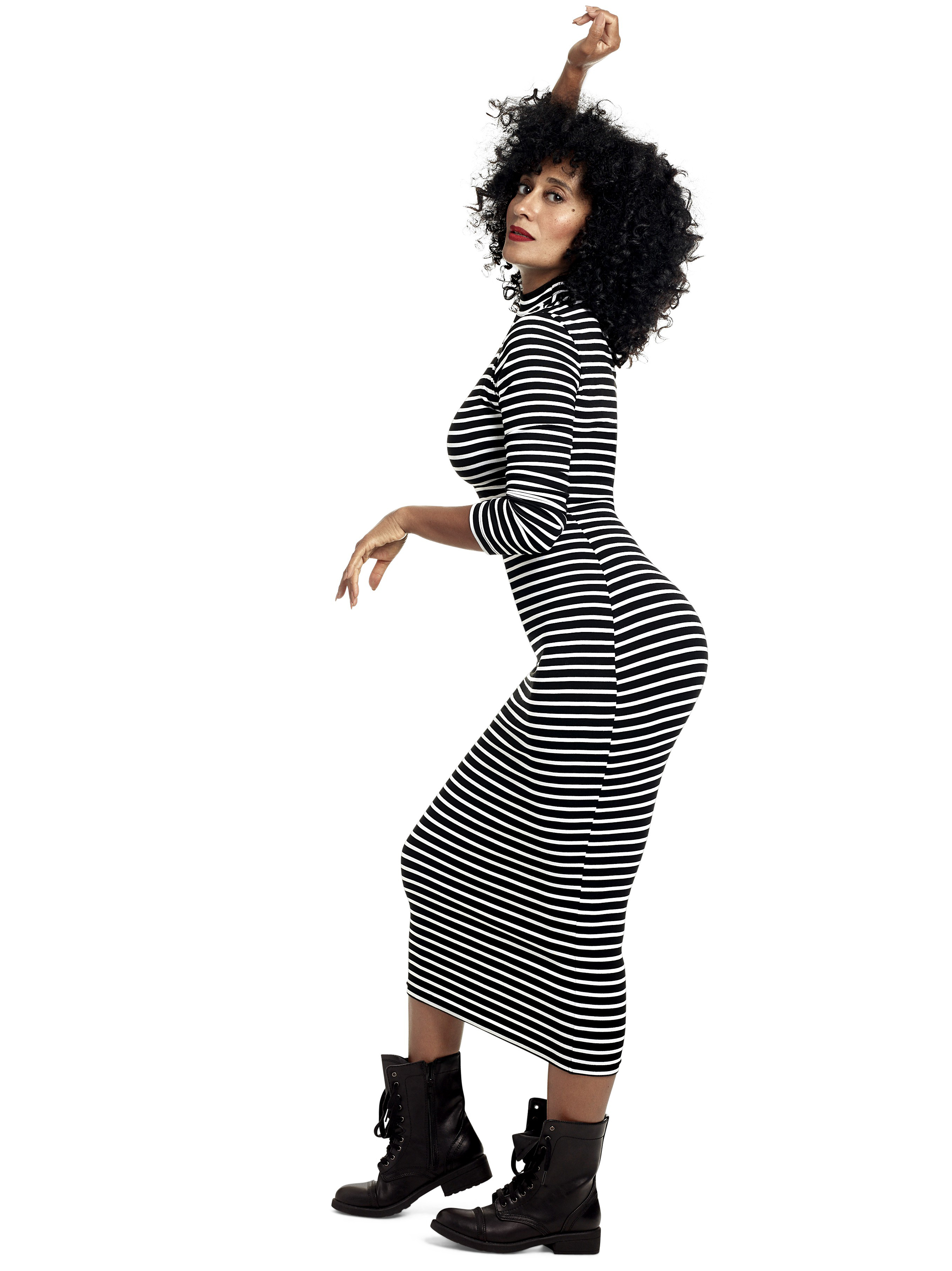 Dresses from ross - Tracee Ellis Ross In Tracee Ellis Ross X Jc Penny Stretchy Striped Dress