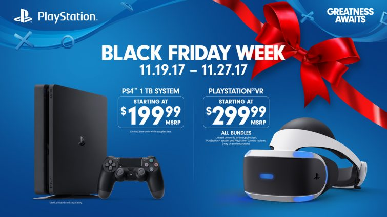 Black Friday PlayStation Deals: $200 PS4, $350 Skyrim PSVR Bundle, $40 Controllers