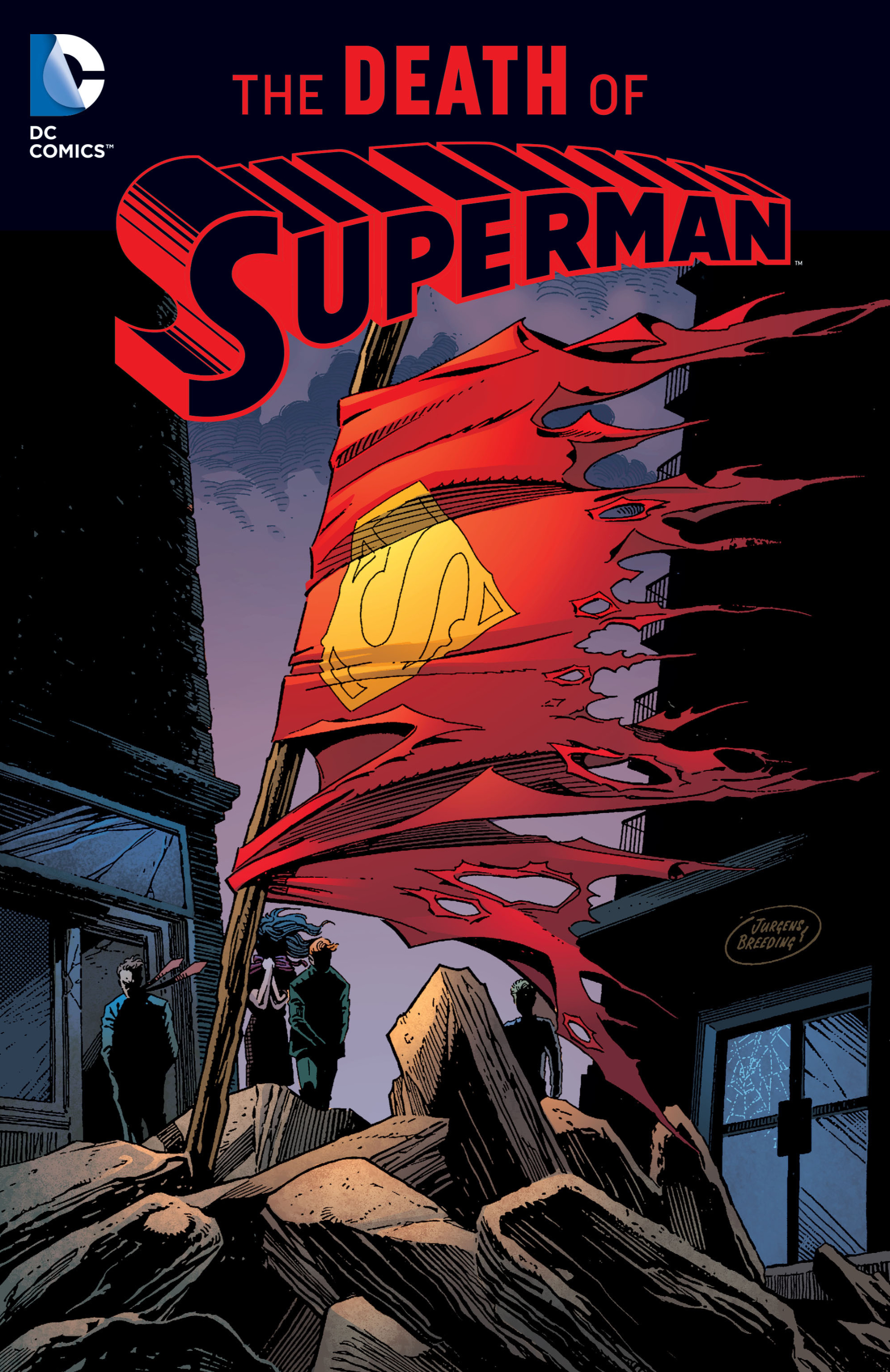 The cover of the Death of Superman trade collection, 2016 publication, DC Comics