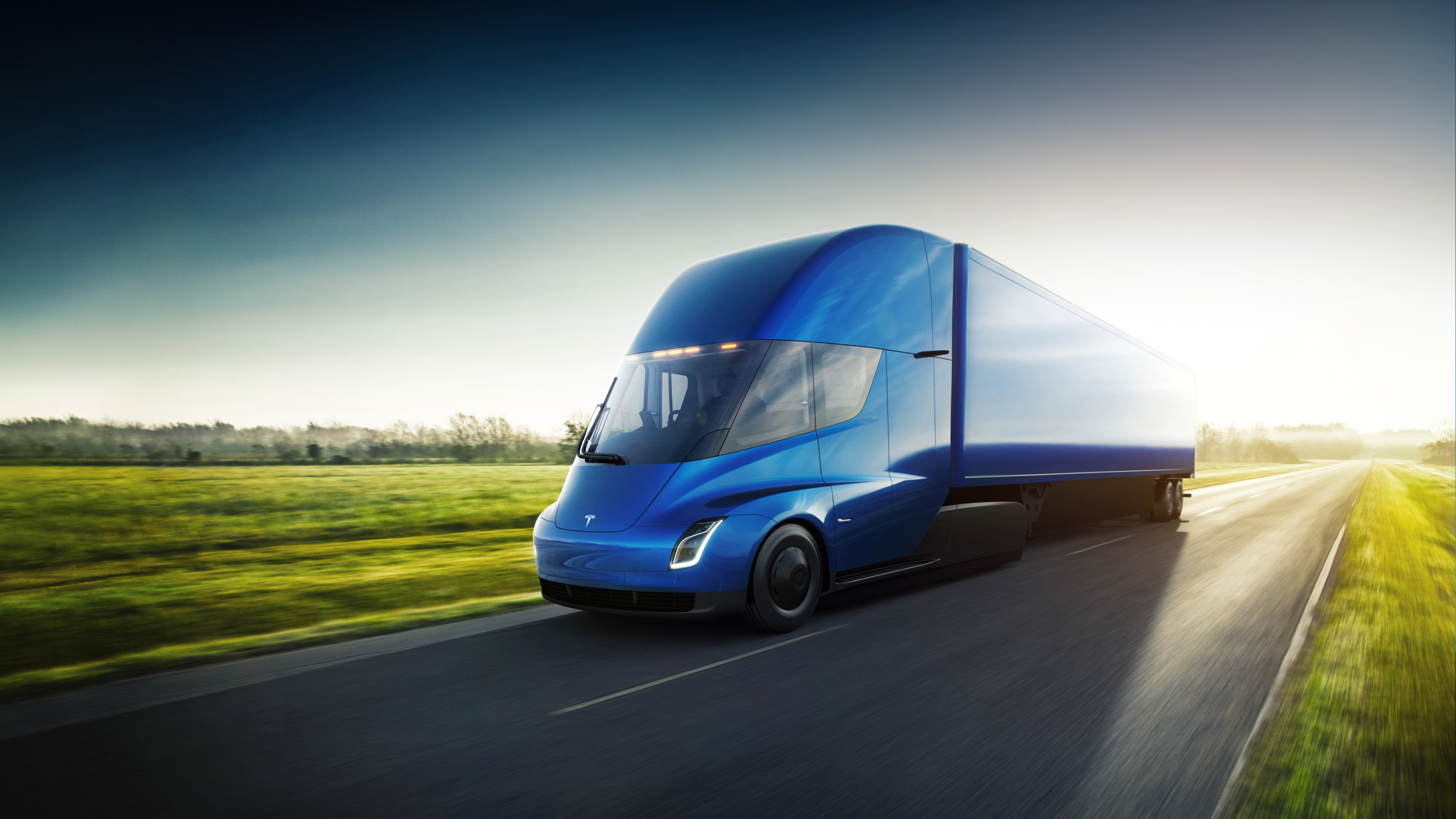 This Is The Tesla Semi Truck The Verge