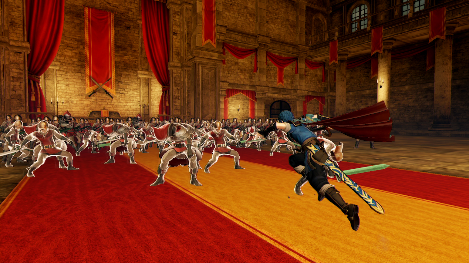 A battle breaks out in Fire Emblem Warriors.