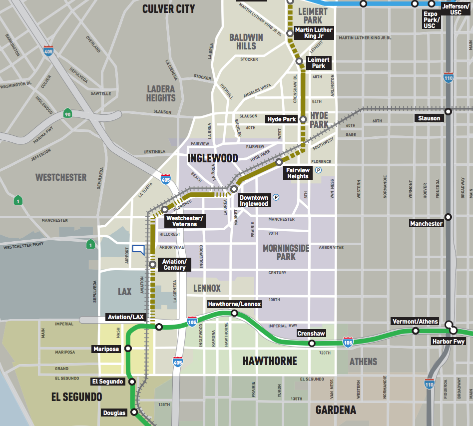 How Will Booming Inglewood Handle Development Around Its New Train - Inglewood map