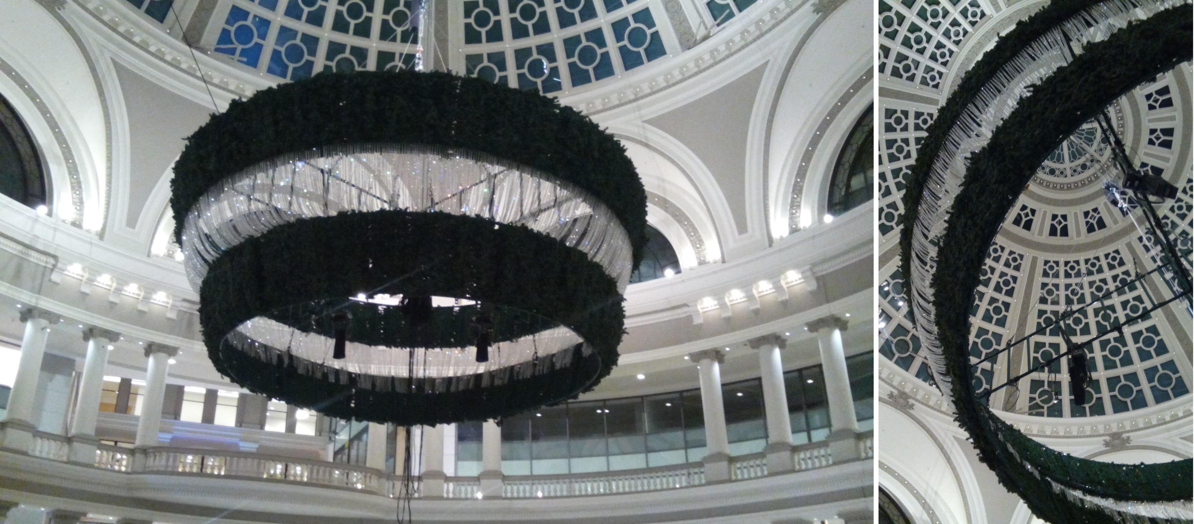 Black Upside Down Christmas Tree