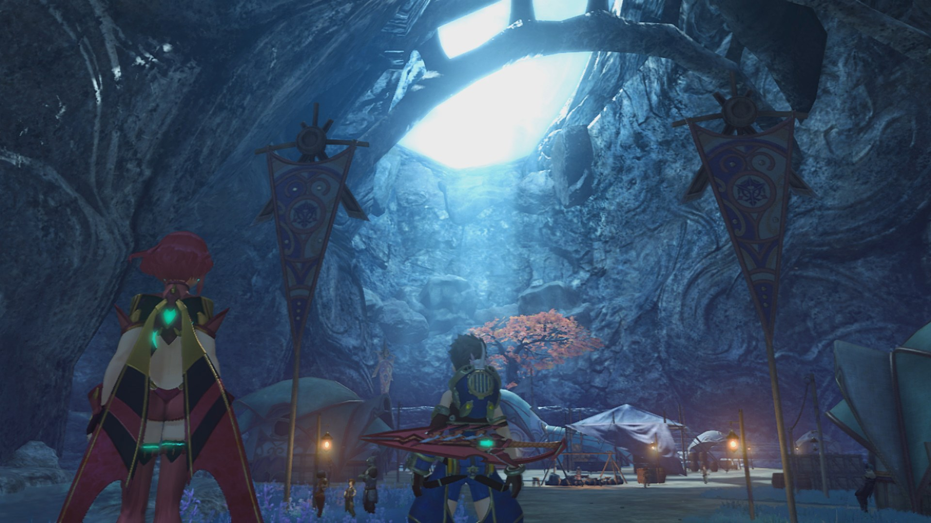 A moody cavern in Xenoblade Chronicles 2.