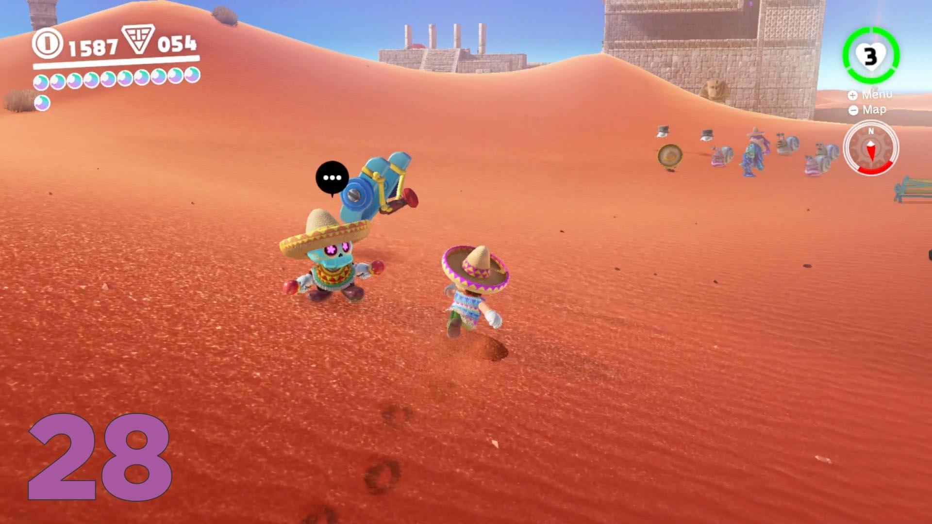 Super Mario Odyssey Guide Sand Kingdom All Purple Coin