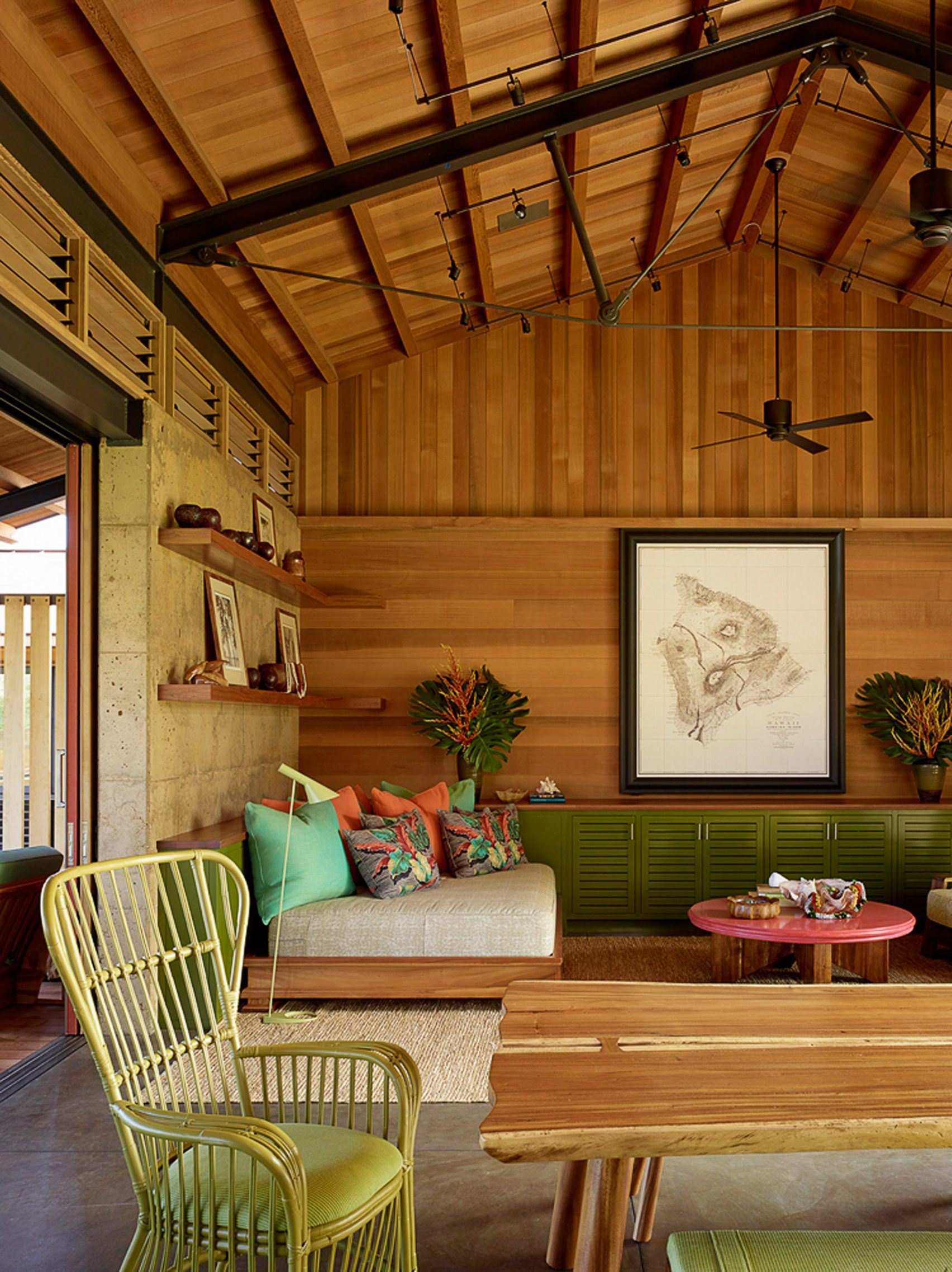 breezy modern hawaiian home was inspired by summer camps ForLiving Room Kumu Kahua