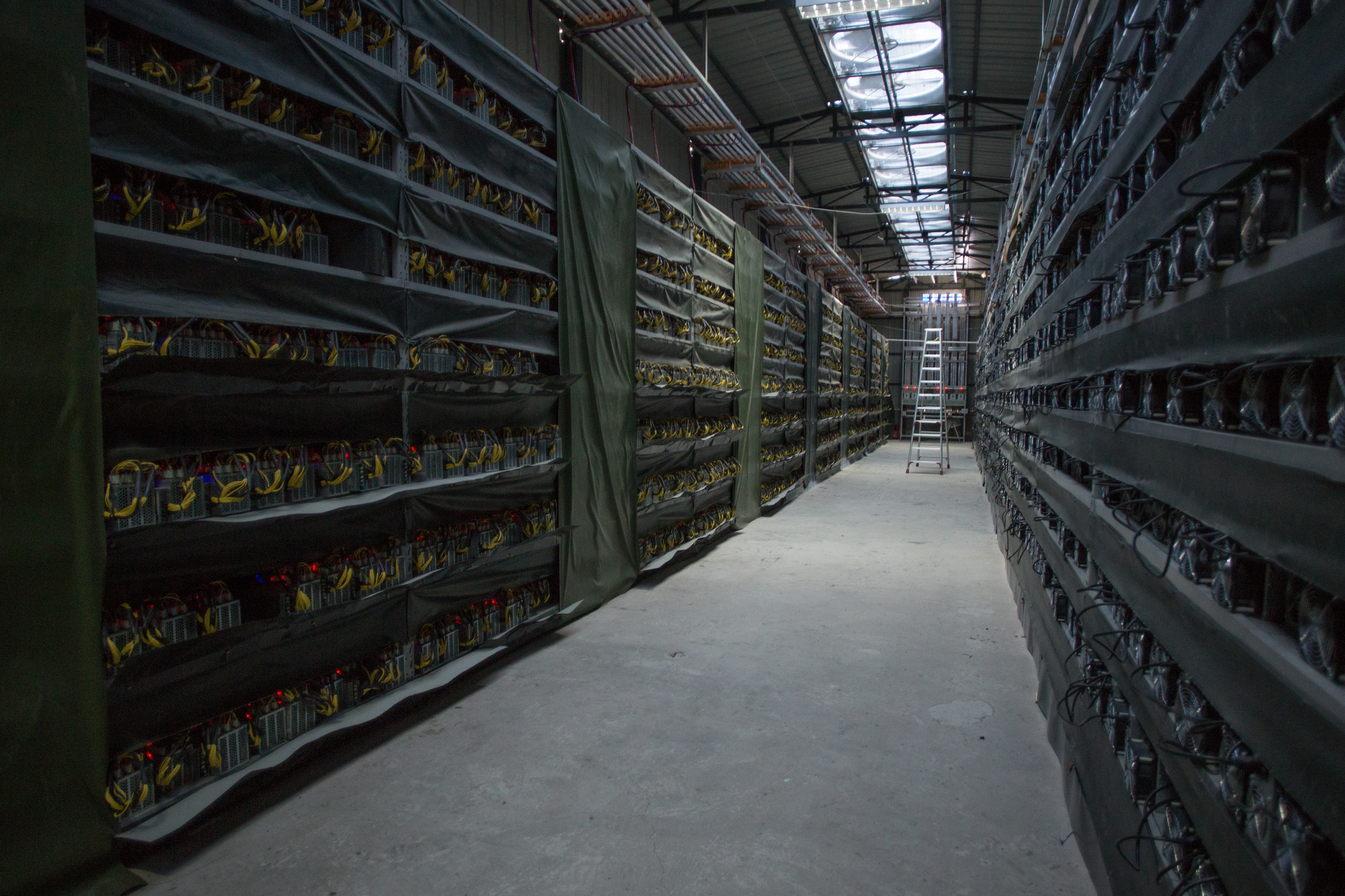 KONGYUXIANG, GARZE, SICHUAN, CHINA - AUGUST 12: The interior of Haobtc's bitcoin mine is pictured near Kongyuxiang, Sichuan, China. (Photo by Paul Ratje/For The Washington Post via Getty Images)