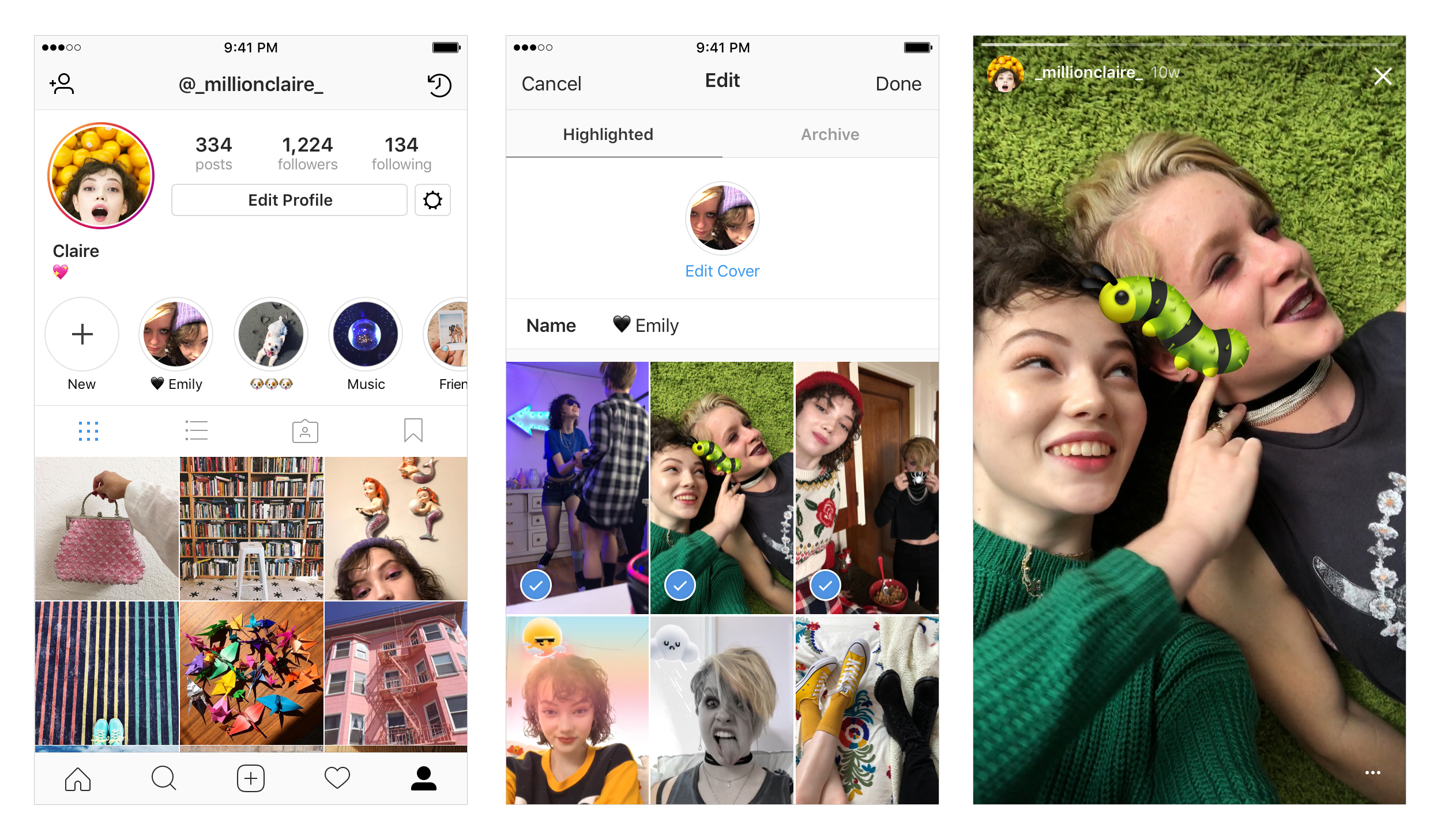 Choose your favorite Instagram Stories from your Archive to create Stories Highlights
