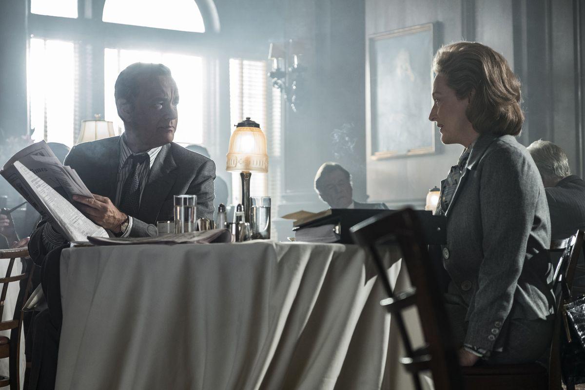 Tom Hanks as Ben Bradlee and Meryl Streep as Kay Graham in The Post