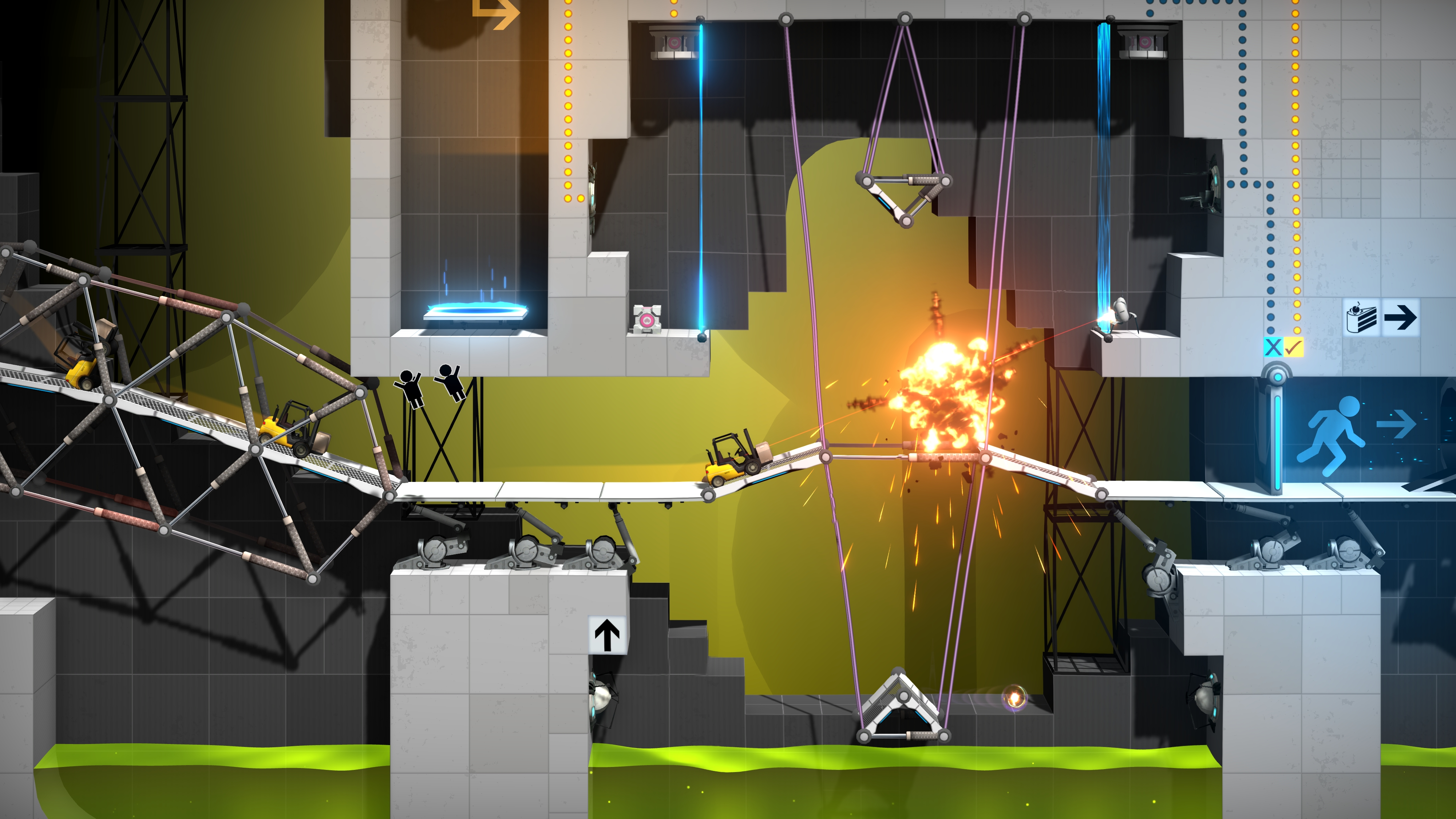 Bridge Constructor Portal brings GLaDOS to the Switch