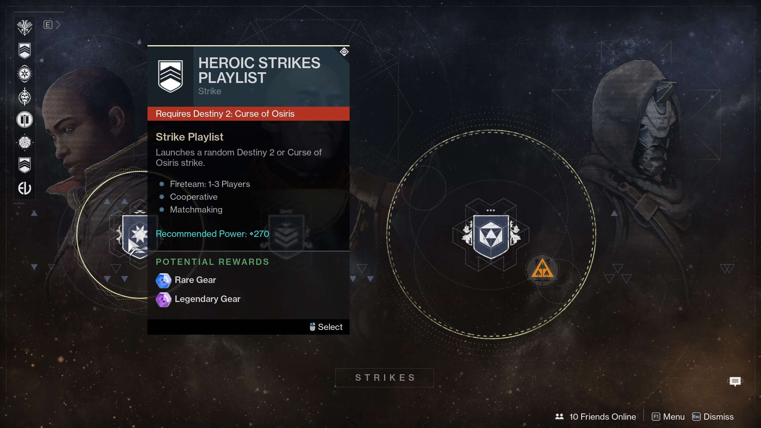 Future 2: Curse of Osiris - courageous strike playlist locked