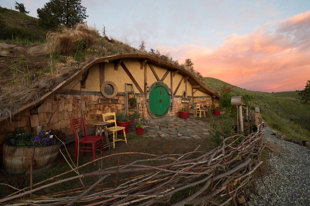 Wolfe hopes to build two additional hobbit holes on the 5.5-acre siteone  for a beekeeper and the other for a weaver. And because these are tiny  homes after ...