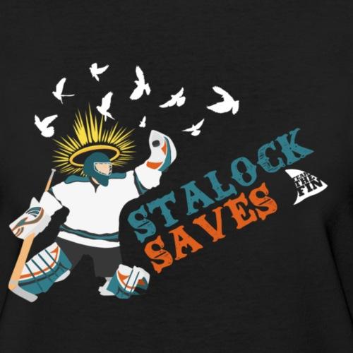 Stalock_saves_women_s_black_aa_tee_women_s_t_shirt_by_american_apparel