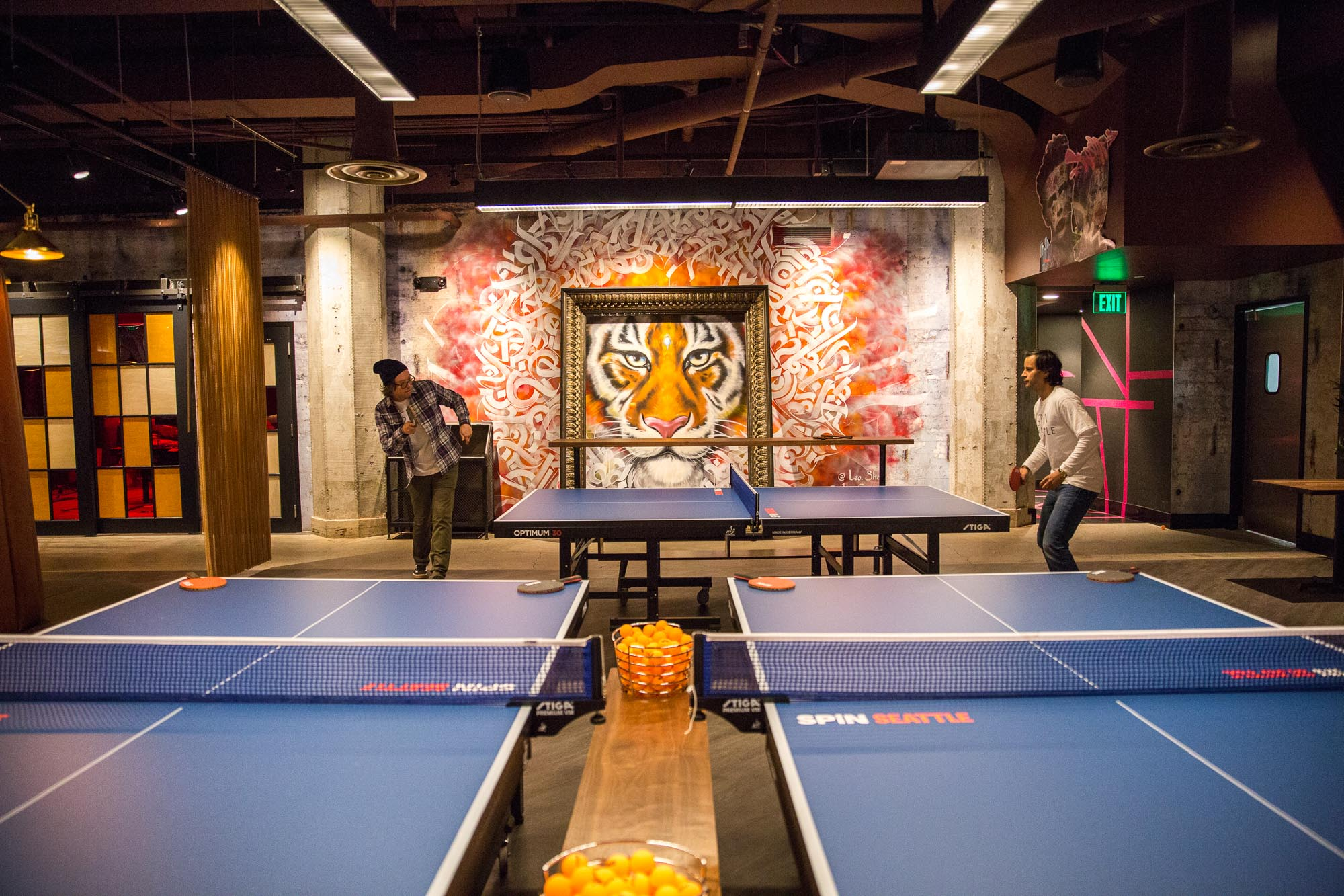 updated spin s massive ping pong venue restaurant and bar hits downtown eater seattle. Black Bedroom Furniture Sets. Home Design Ideas