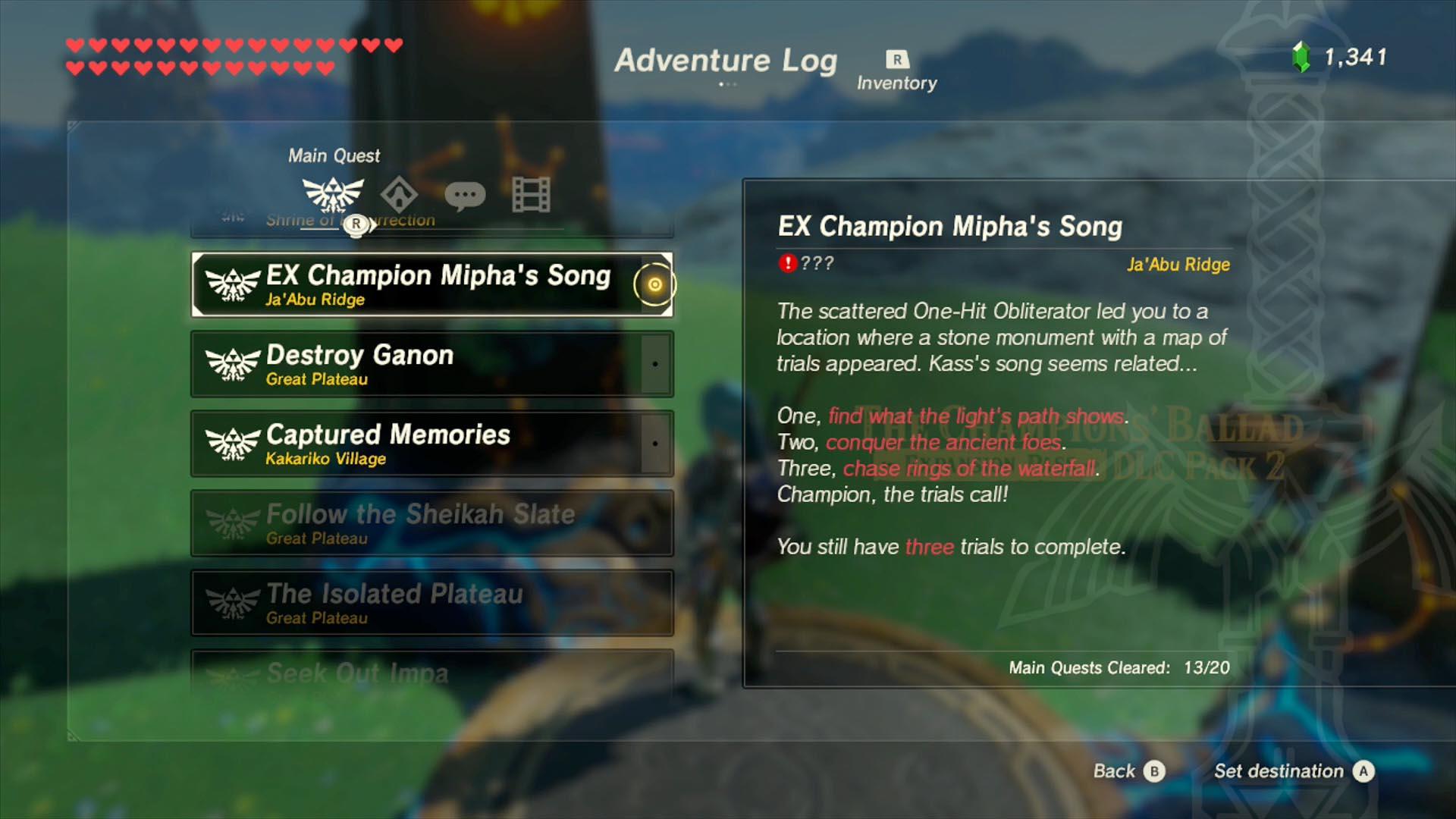 Zelda Breath of the Wild Champions' Ballad guide: Sato ...