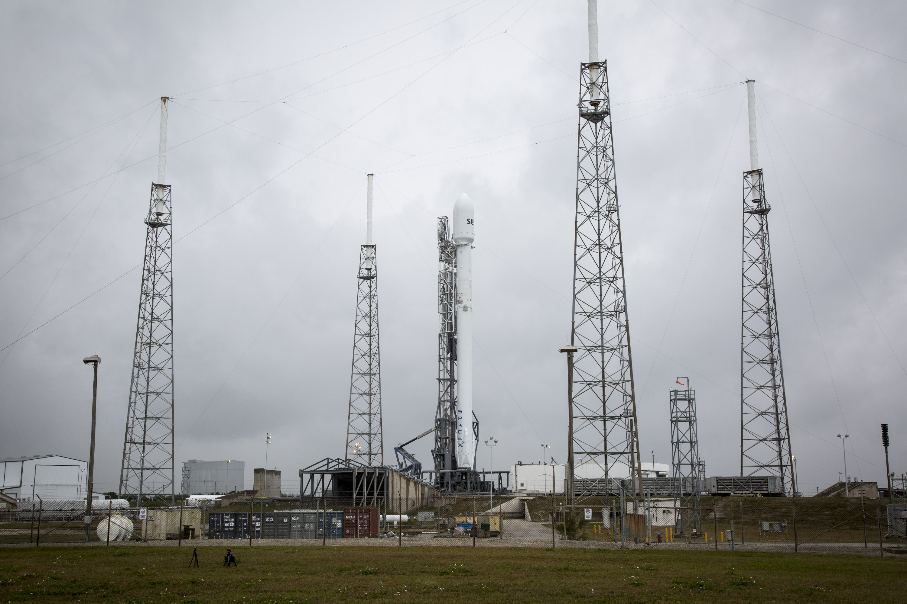 Weather looks good for today's planned SpaceX launch
