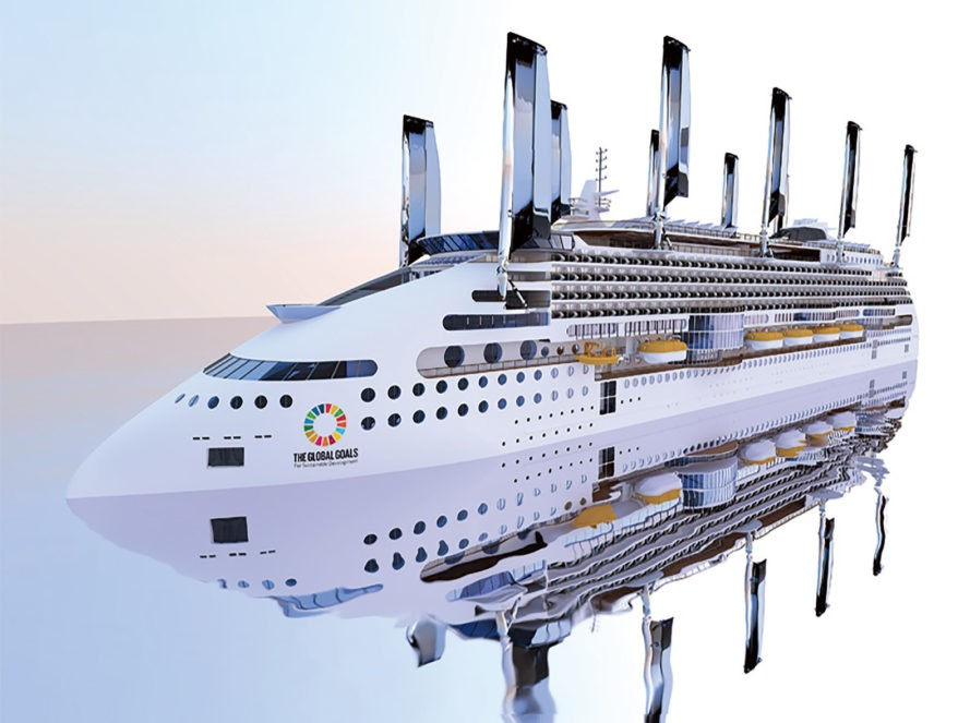 'World's most eco-friendly cruise ship' will have retractable solar sails