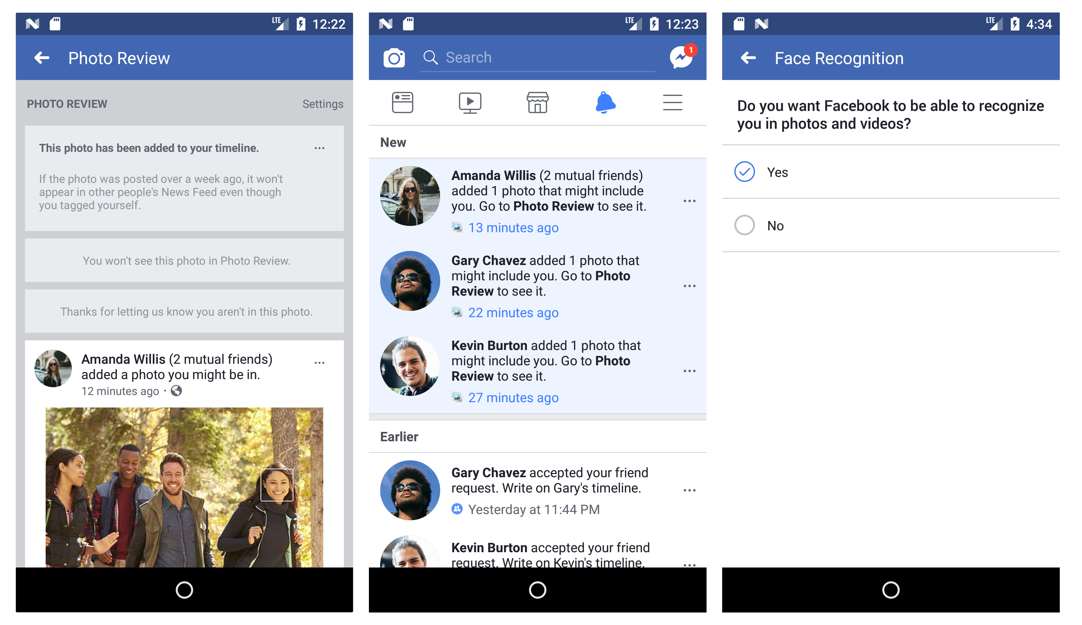 Facebook Recognition Features Now Keep A Template Of Your Face