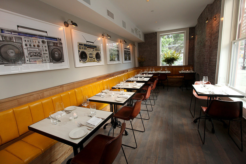 Yellow Banquettes & Boombo at Charlie Bird in Soho - Eater NY on