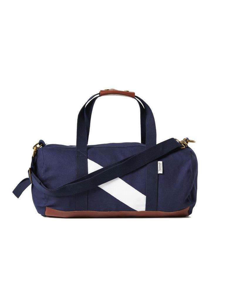 A Navy Canvas Duffle Bag