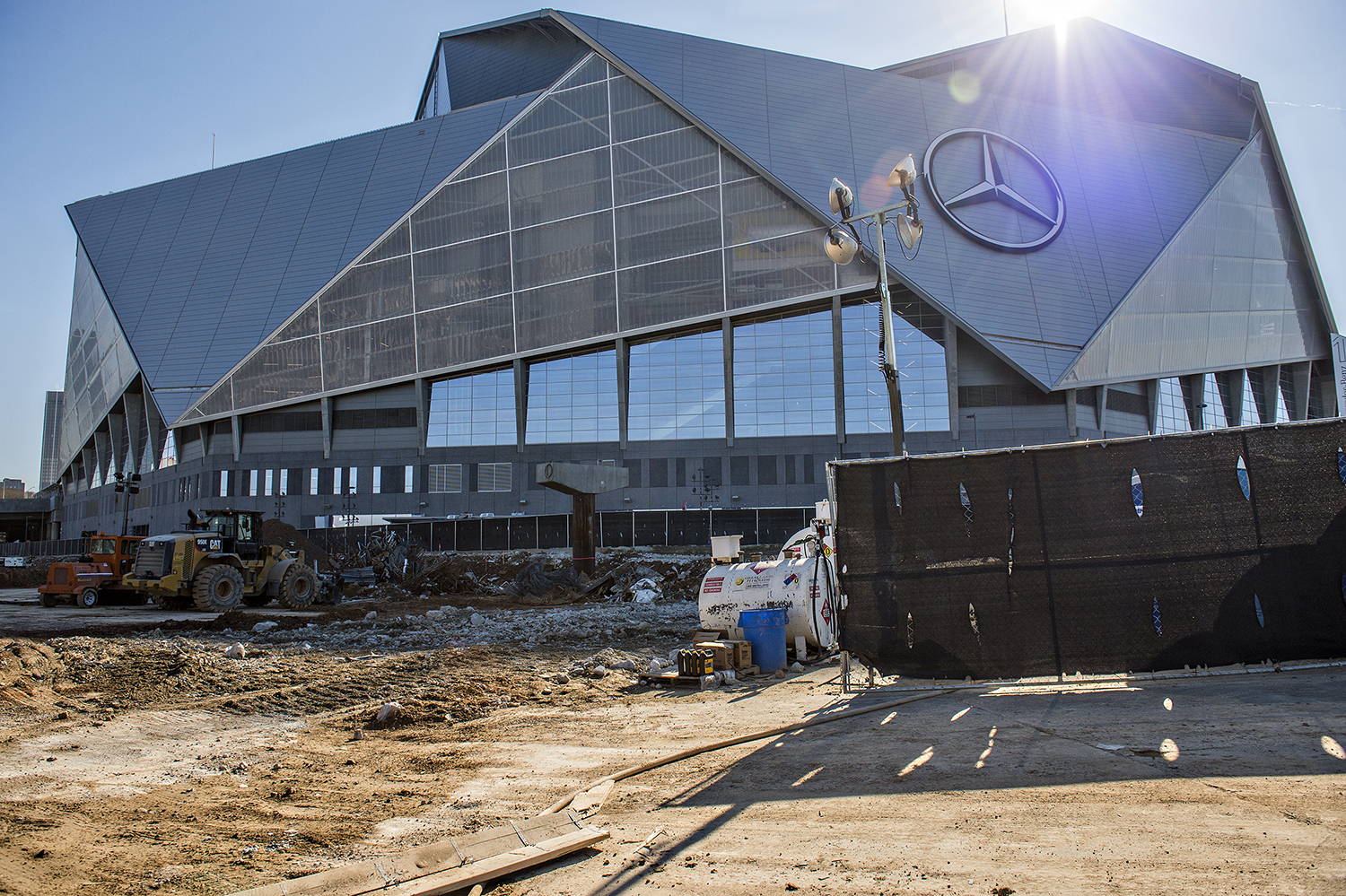 Photos georgia dome rubble like 2017 is quickly going for Mercedes benz dome