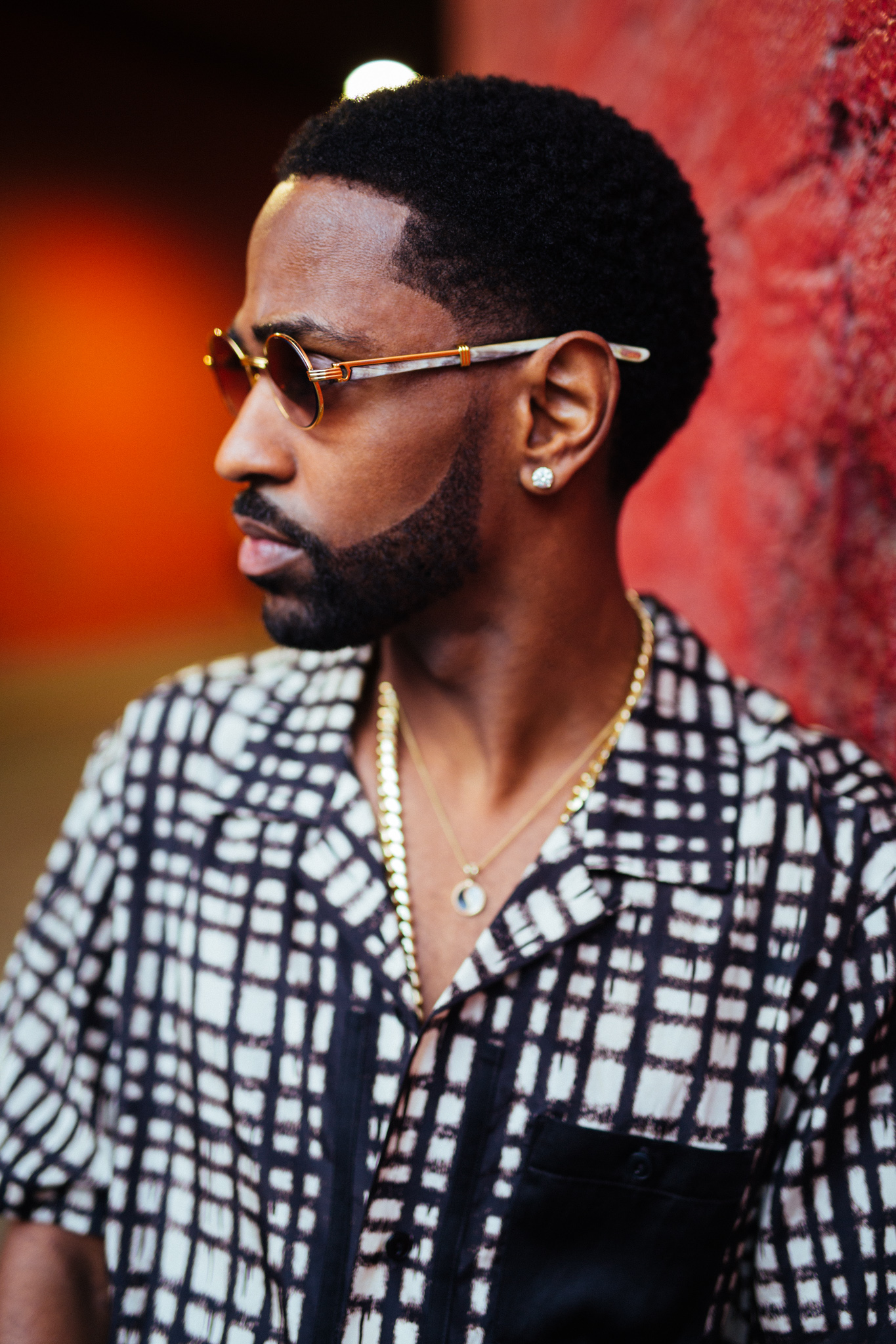 Big Sean in a pair of Cartier sunglasses.
