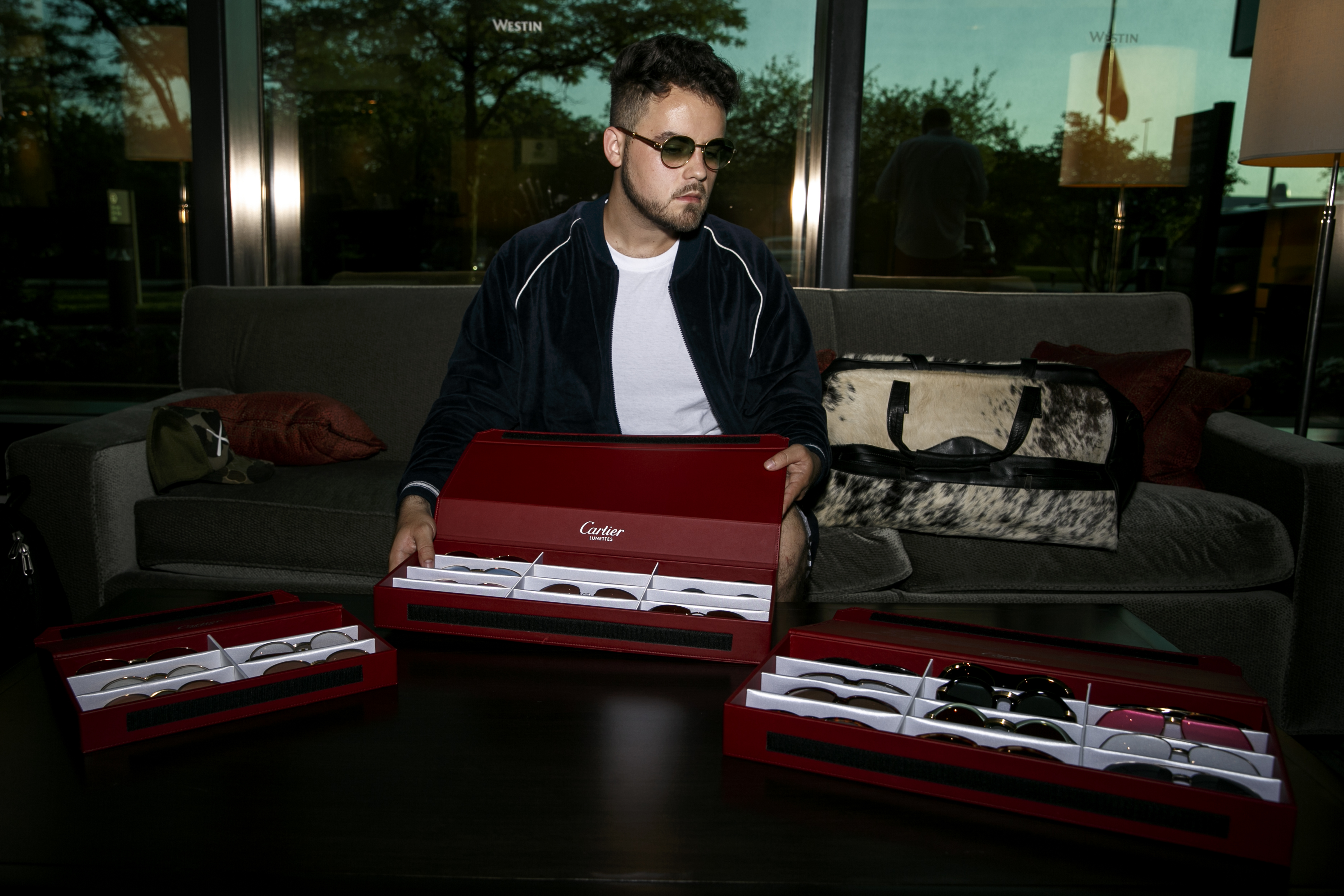 Spencer Shapiro supplies Cartier glasses for the Doughboyz.