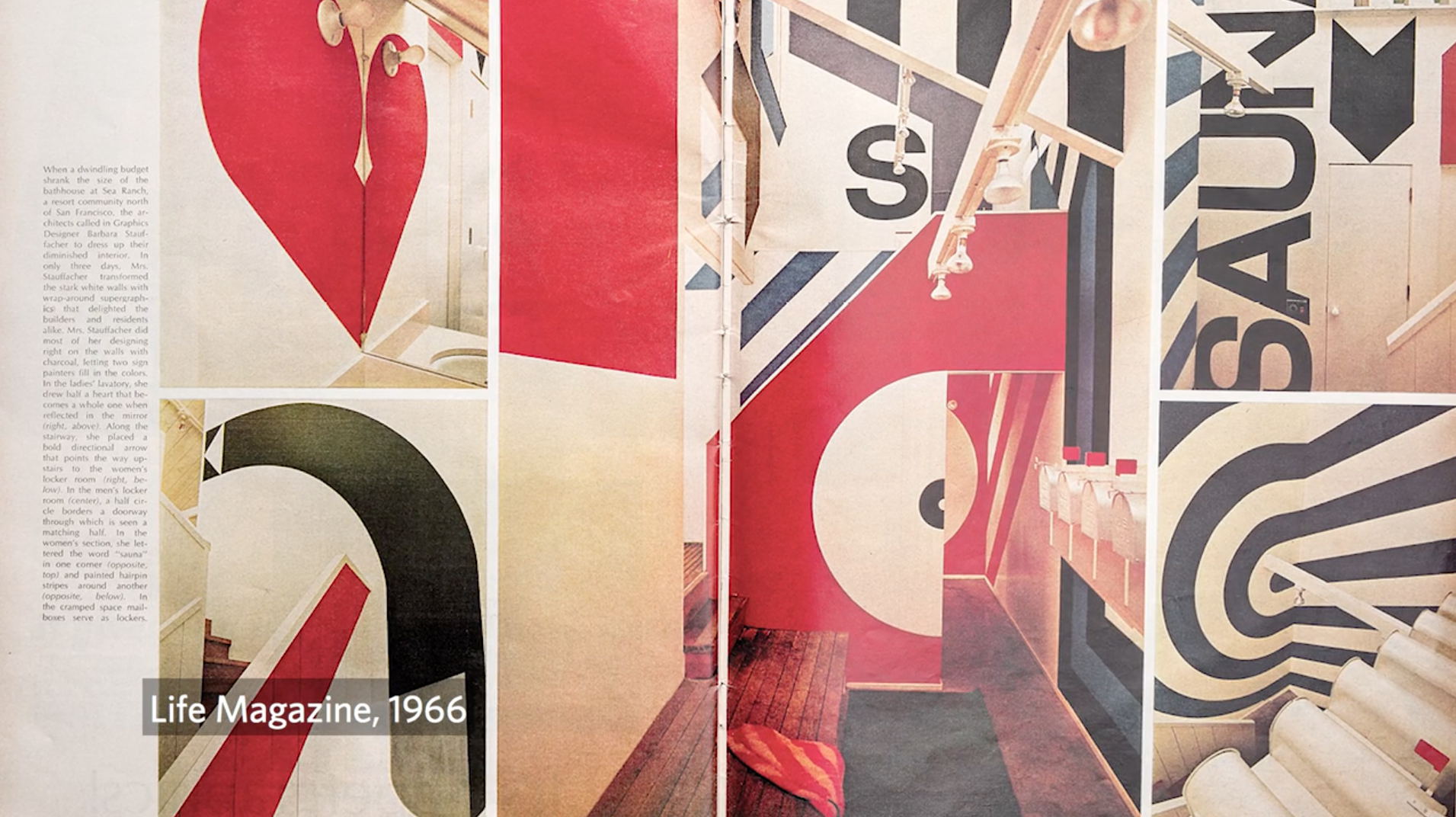 Supergraphics from Sea Ranch in a 1966 Life magazine article