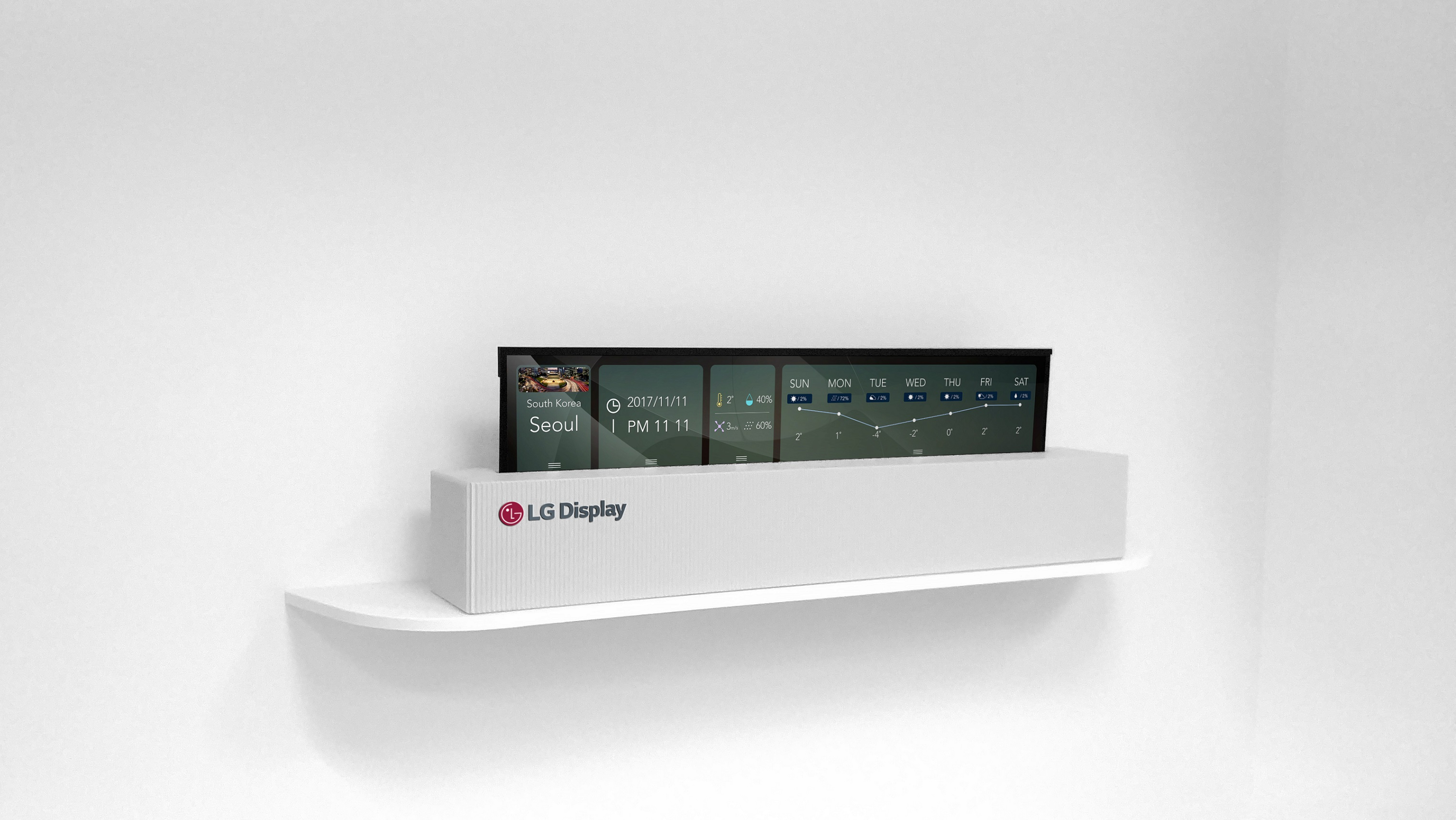 LG Display has made a 65-inch rollable OLED TV