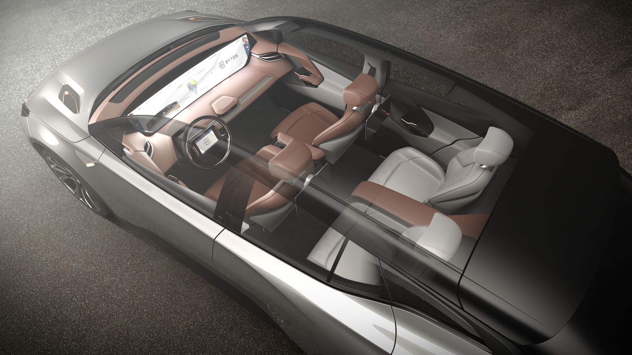 Byton s electric suv concept is another wild stab at the for Future interieur