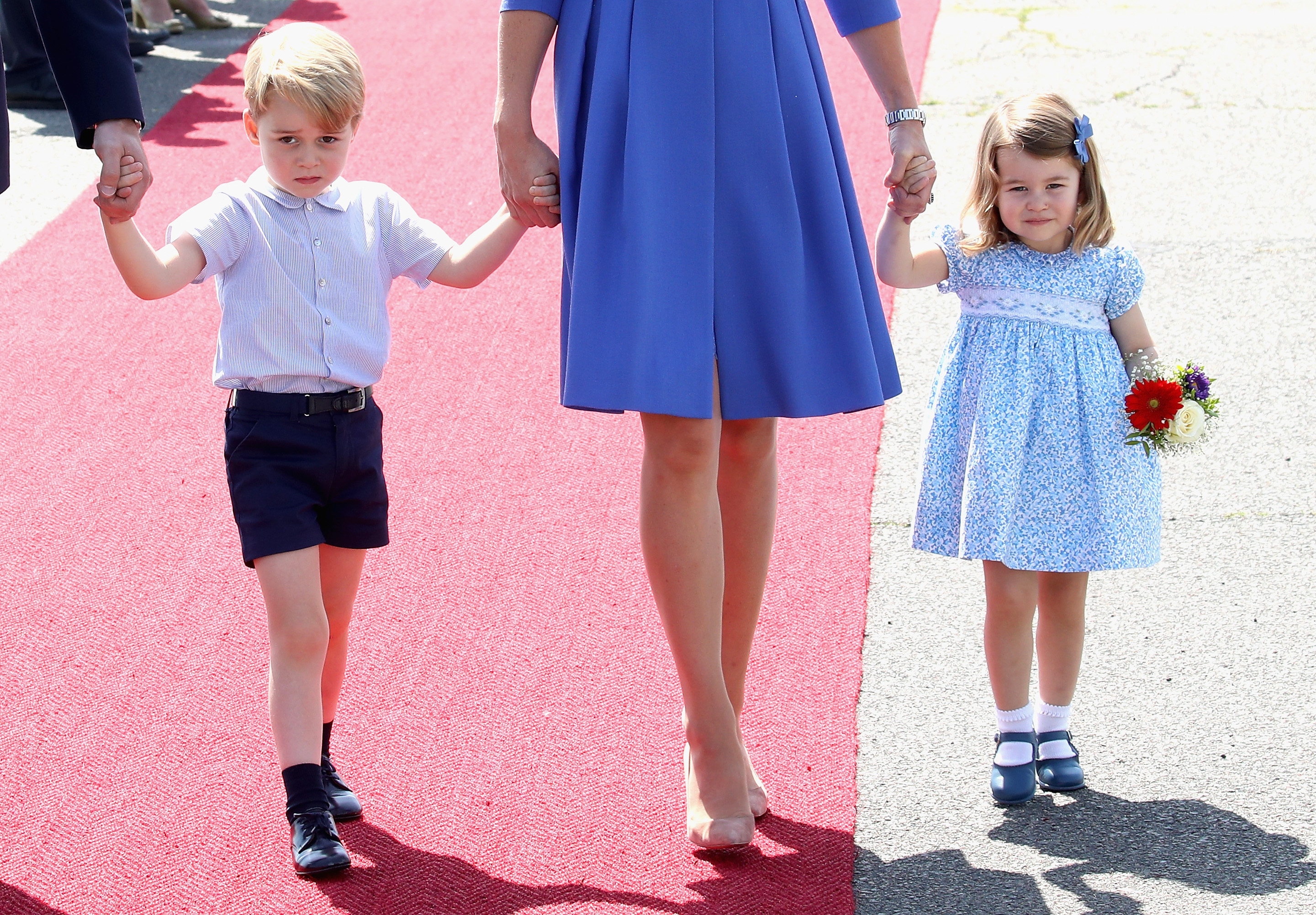 Prince George and Prince Charlotte with their parents