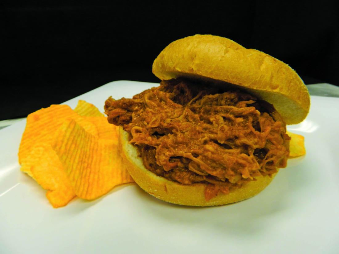 Bull's BBQ pulled pork sandwich
