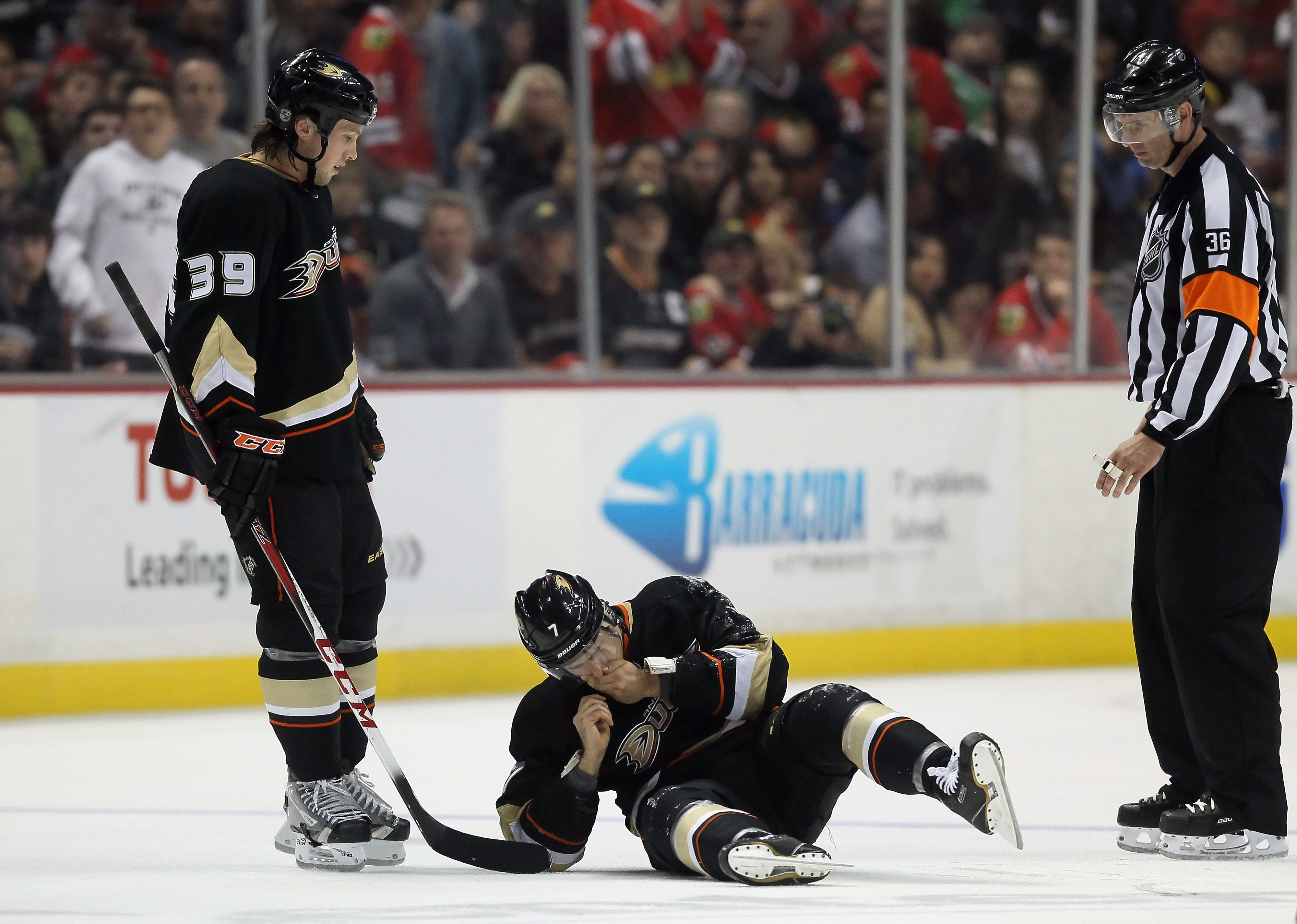 High stick and you're bleeding? Nah, you're a Duck, no penalty there.