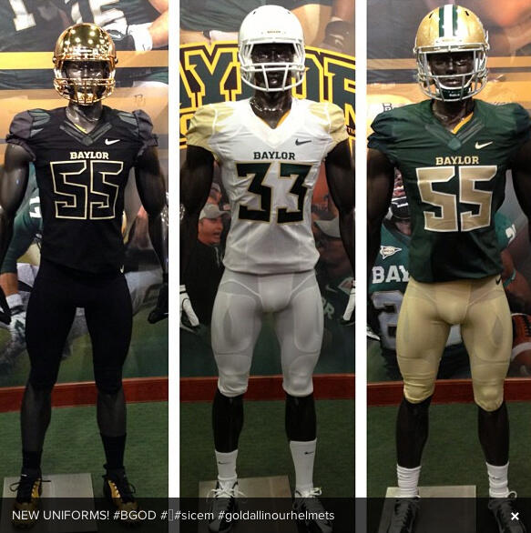new product a6b21 907b5 Baylor Football Uniforms - Our Daily Bears