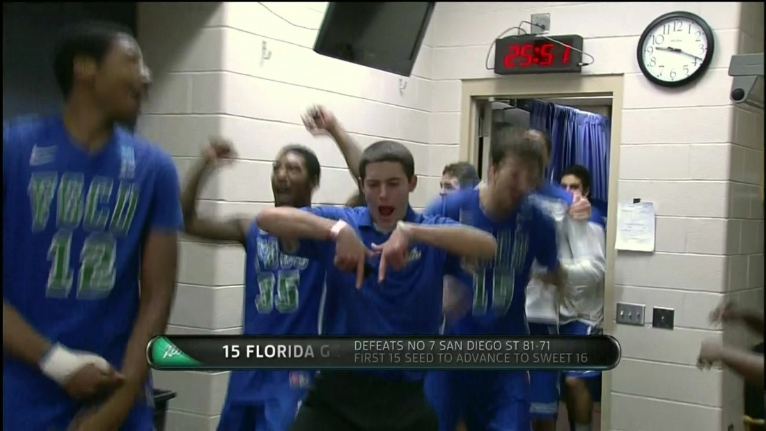 Florida Gulf Coast team manager is the star of the locker room.