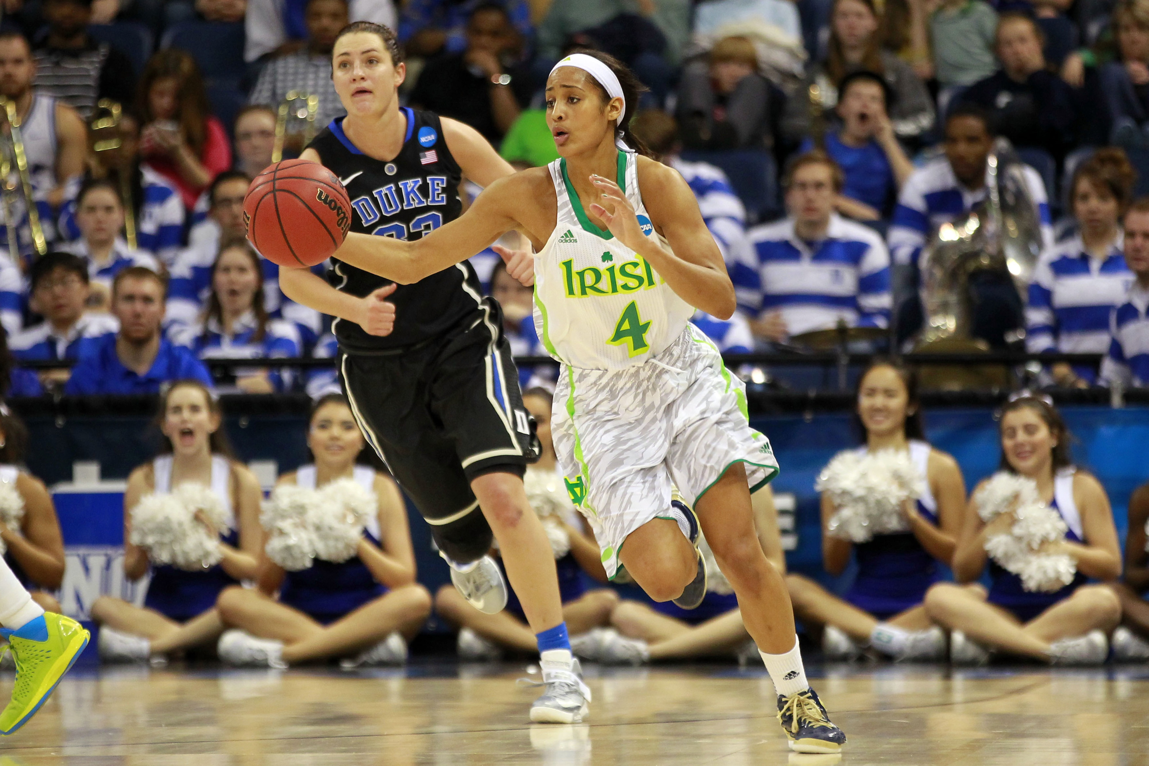 Skylar Diggins and her college team has the upper hand to win it all in the NCAA Tournament.  And though some folks may disagree, I think she will be someone who will make an impact as a pro regardless of what team she's on.
