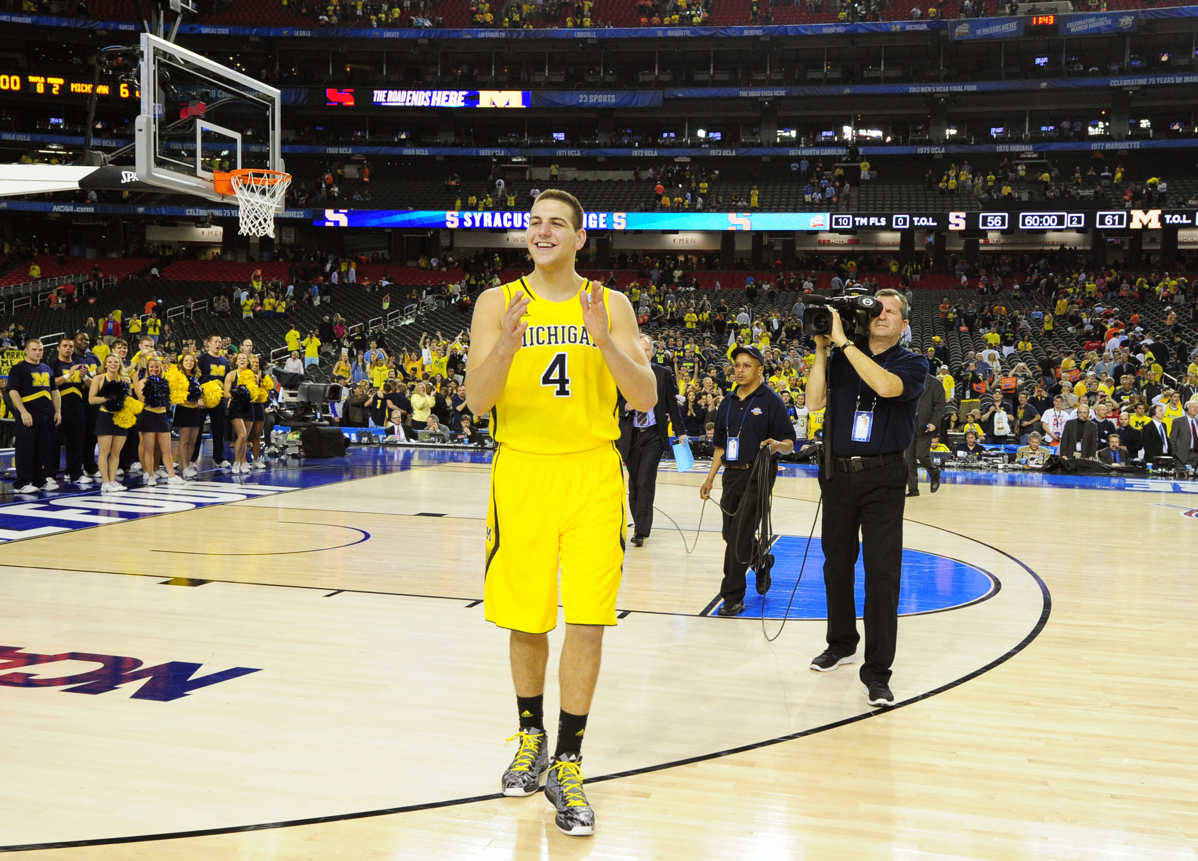 Nice to see Michigan's #4 walking off the floor at a Final Four game with a smile on his face.