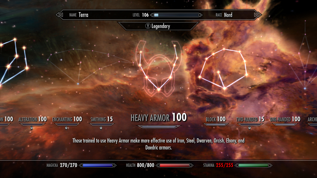 Skyrim update 1.9 adds legendary skills and difficulty, 'removes' level cap