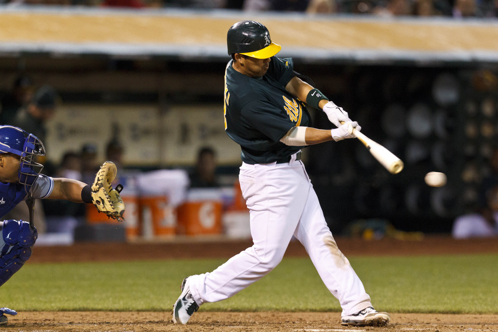 Kurt Suzuki went 3-for-3 with a walk in the A's 1-0 win over the Royals