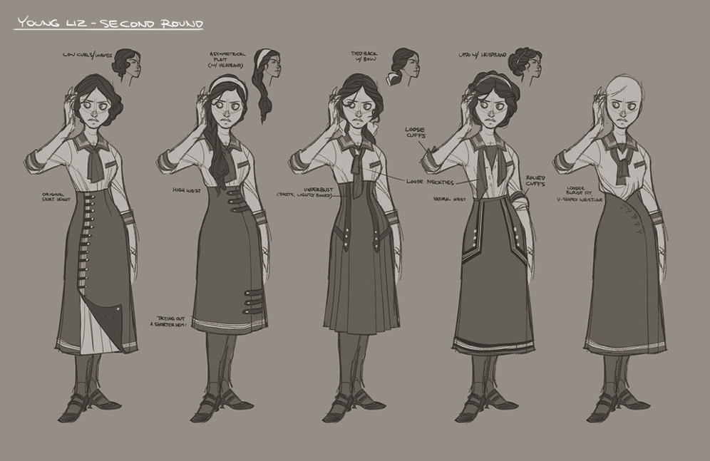 How 1912 high school uniforms shaped the look of Bioshock Infinite's Elizabeth