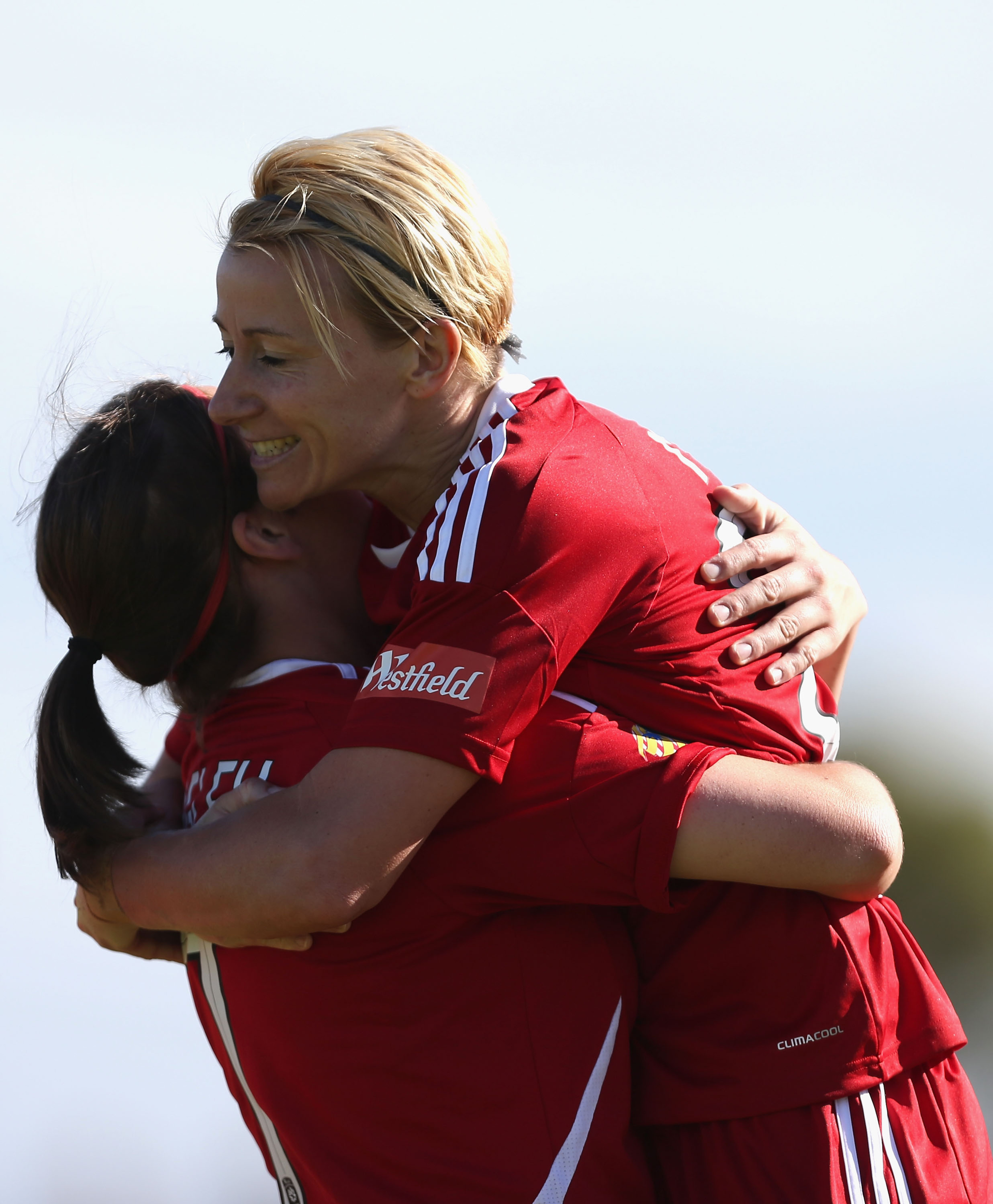 New Striker Kristy Moore hopes there will be many hugs this season in LA.