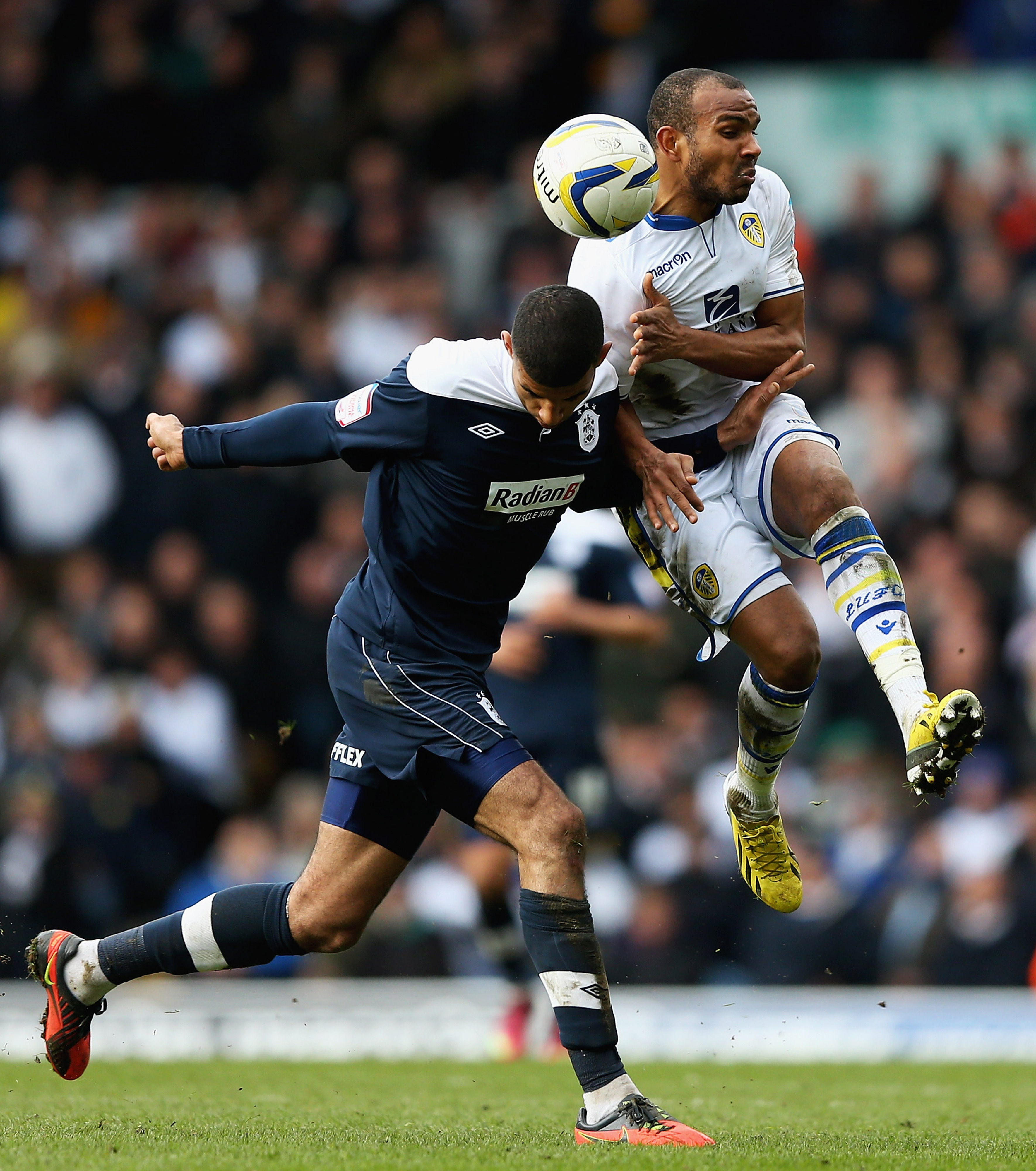 Back in form: Rodolph Austin put in his best performance in a Leeds shirt.
