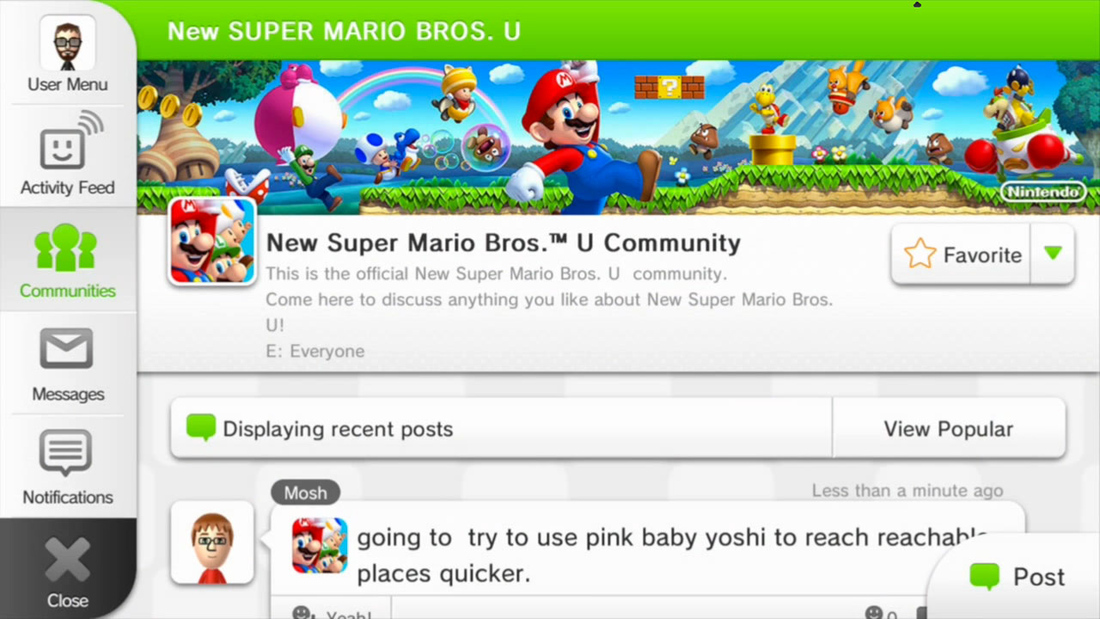 Nintendo's Miiverse now accessible from PC and mobile devices