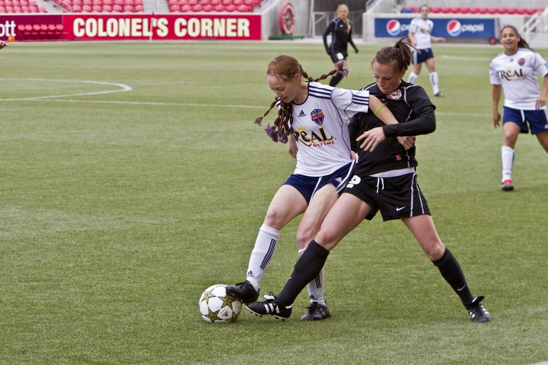 Salt Lake United (now Real Salt Lake Women) against Utah Starzz.