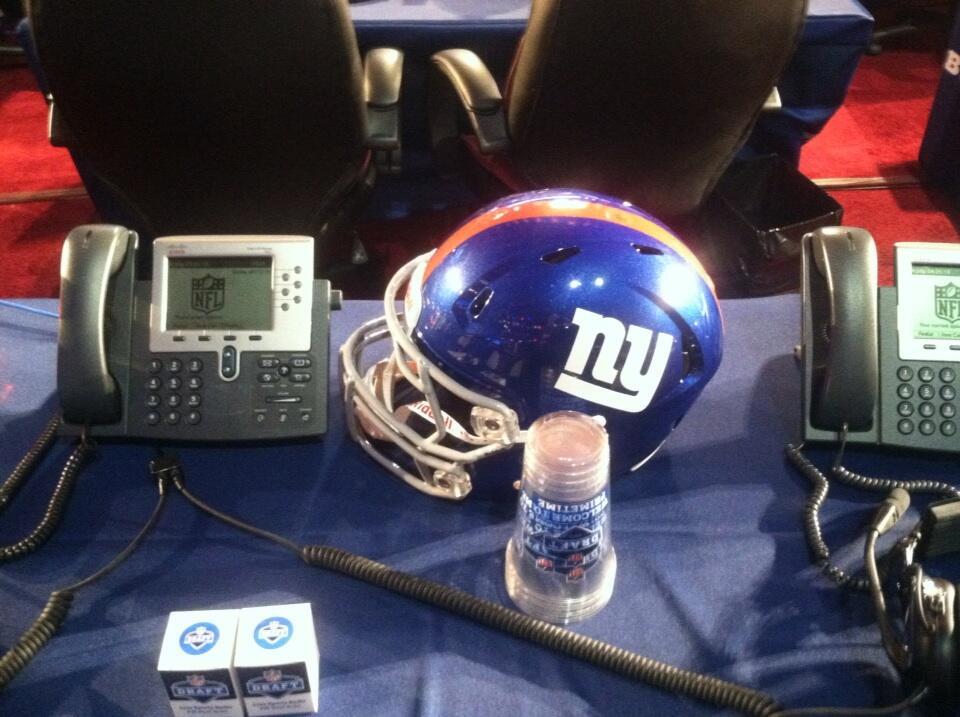 The New York Giants draft table